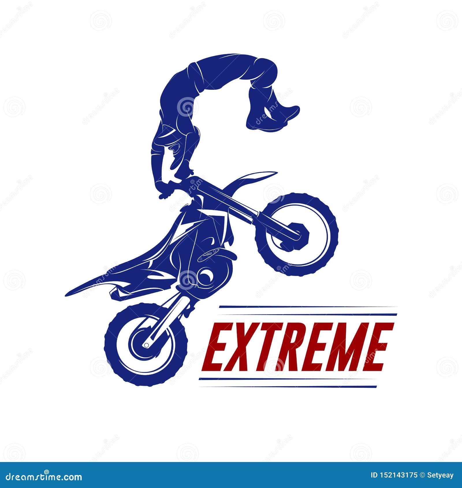 Motocross Jump Logo Vector Motocross Freestyle Vector Motocross Vector Illustration Stock Vector Illustration Of Isolated Freestyle 152143175