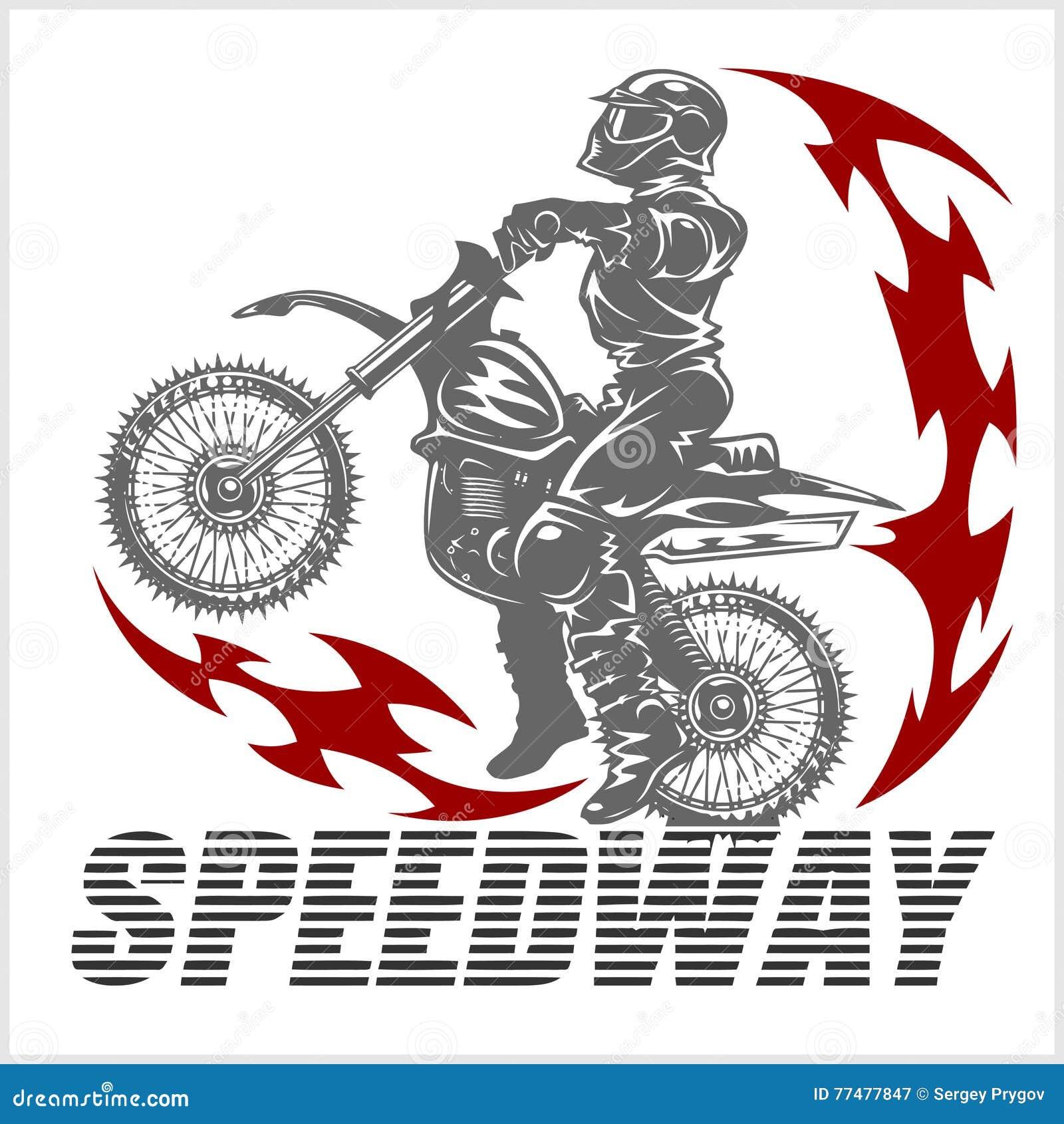 Motocross Rider On A Motorcycle Illustration Cartoon Vector Cartoondealer Com 77477847