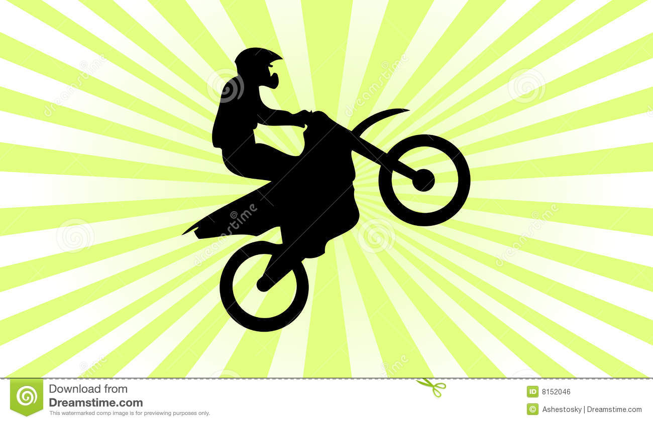Motocross Silhouette Background Royalty Free Stock Image - Image ...