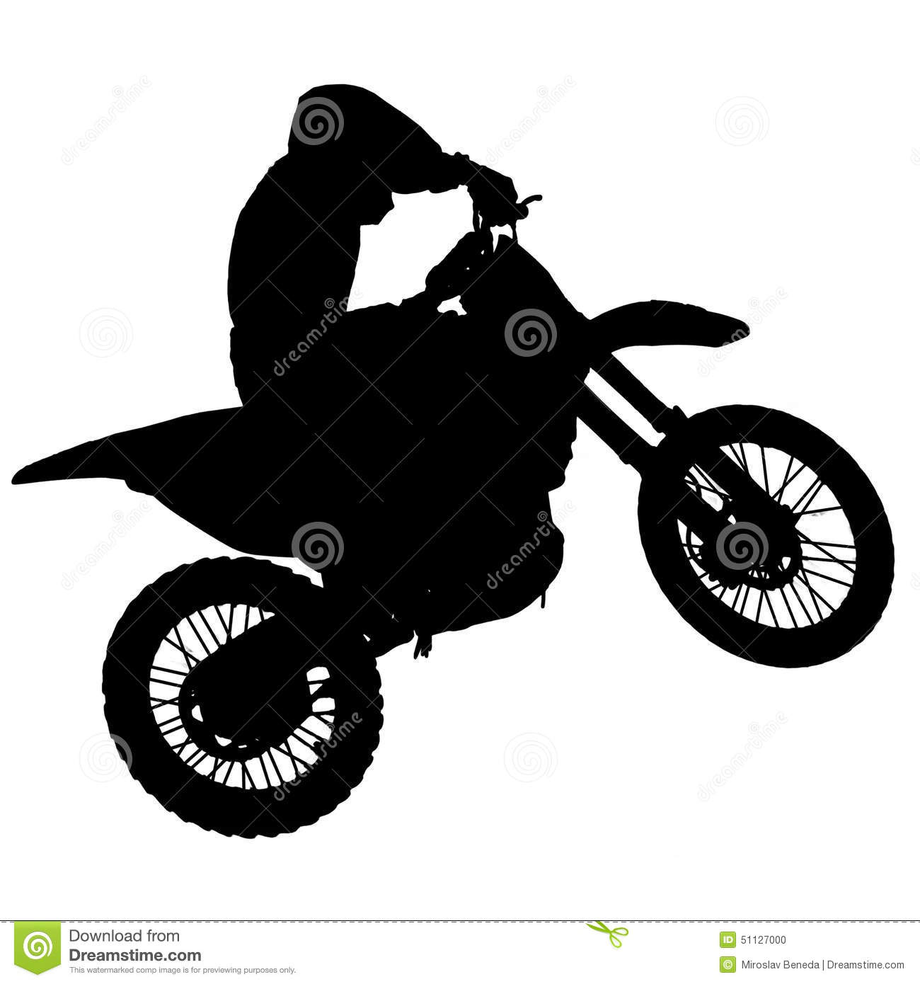 Motocross Silhouette Stock Photo Image Of Motor Cross
