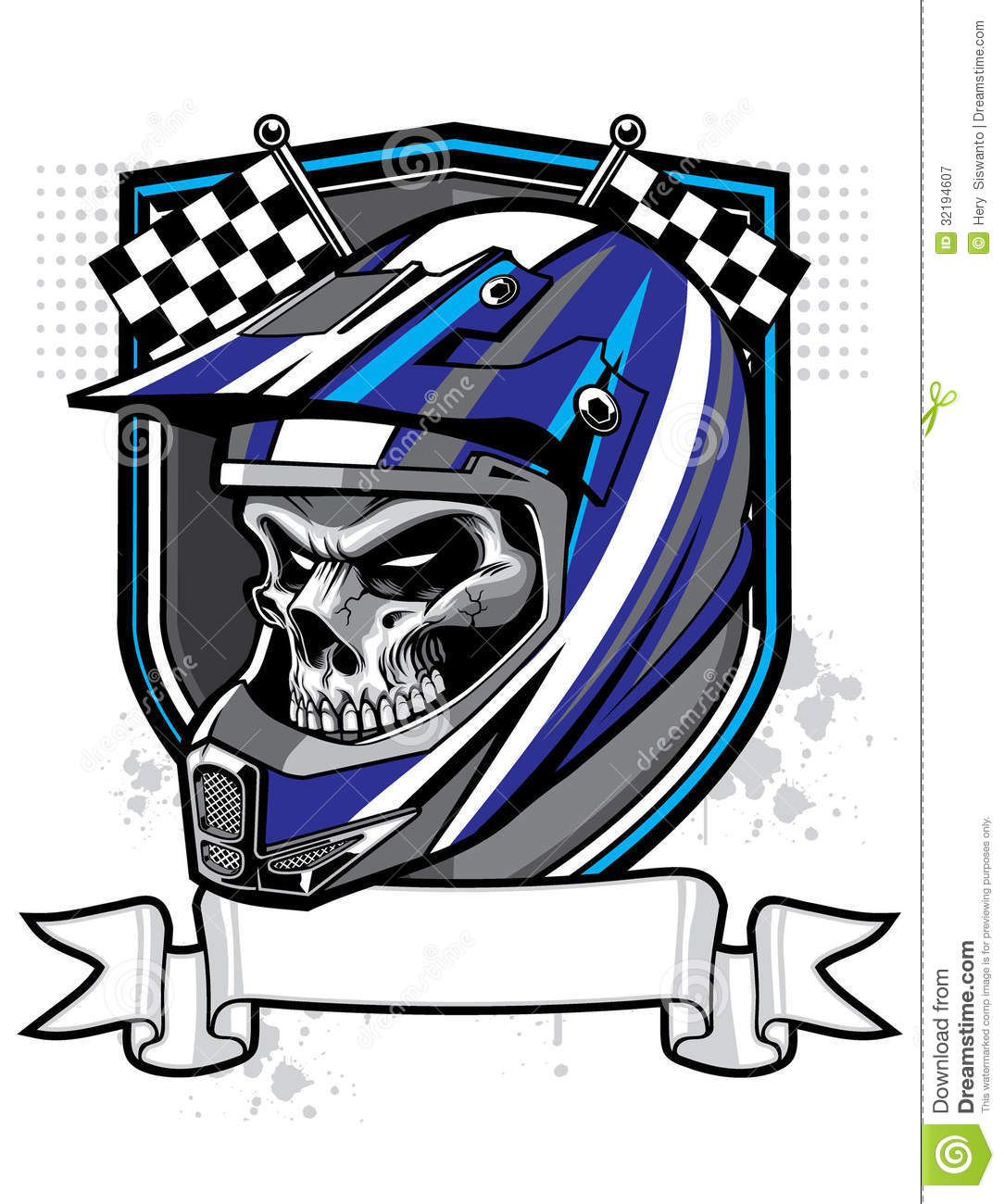 Motocross Skull Rider Royalty Free Stock Photography ...