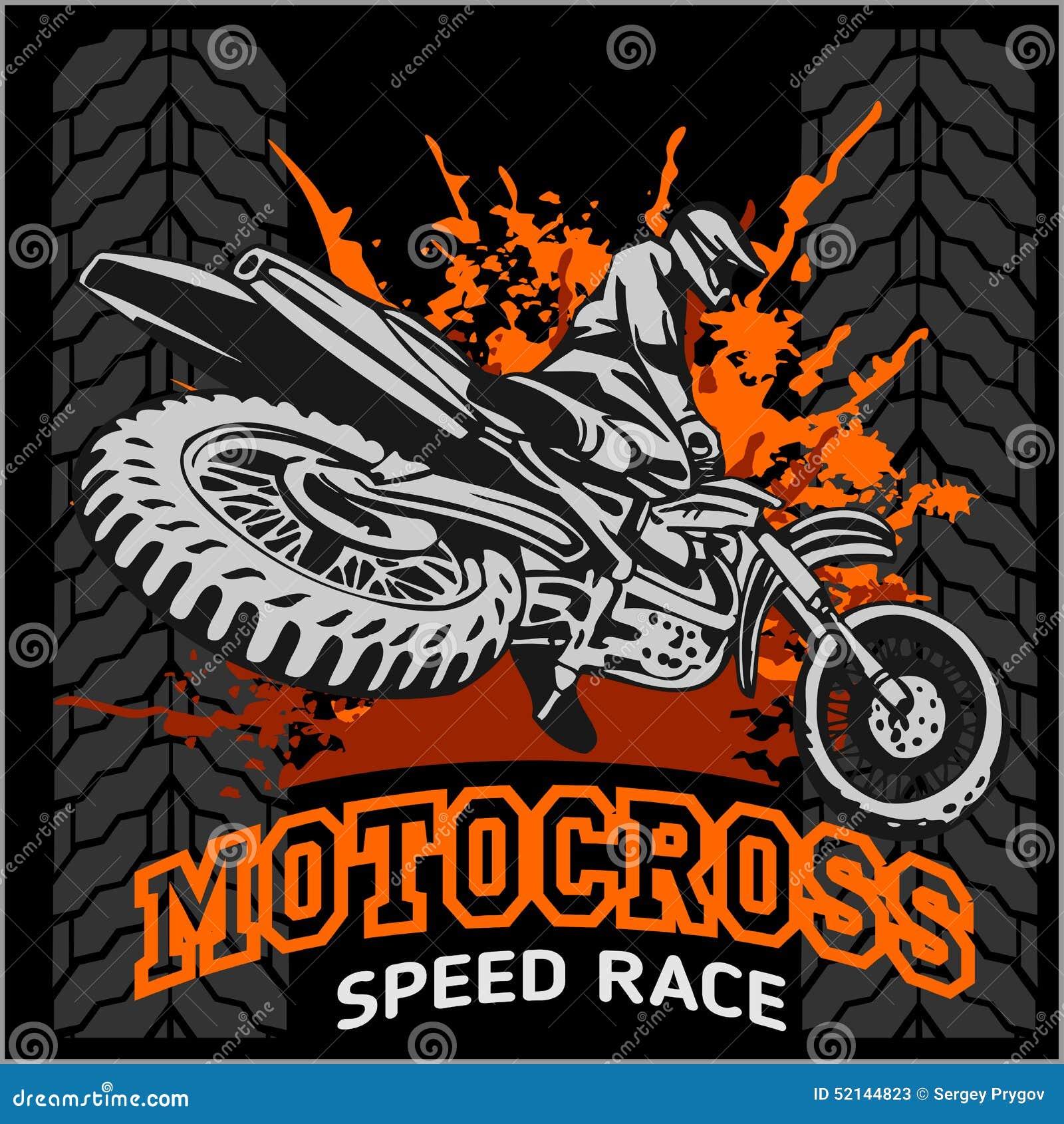 Design t shirt motocross - Emblem Motocross