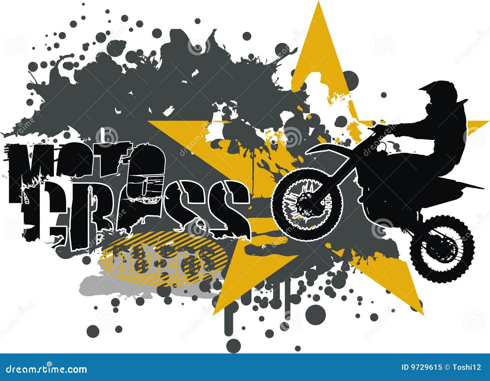 Design t shirt motocross - Motocross Vector Royalty Free Stock Photo