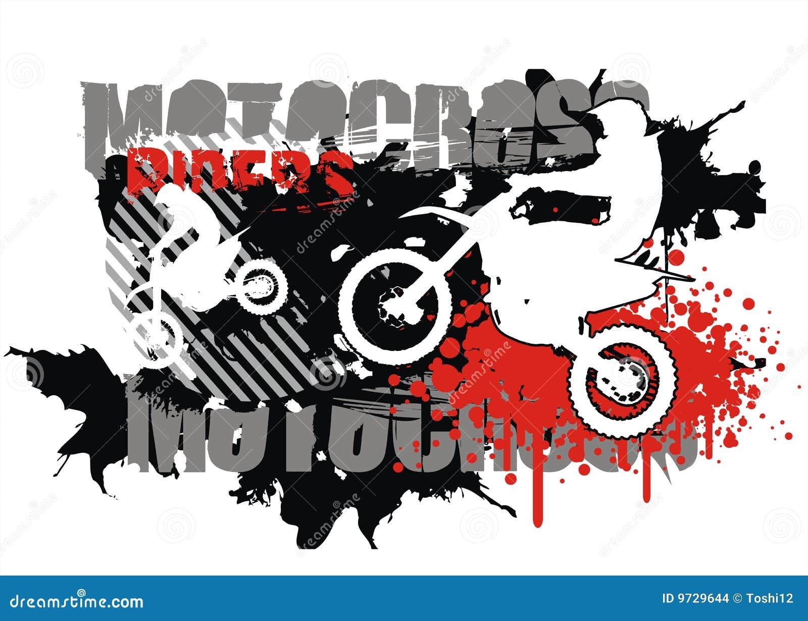 Design t shirt motocross - Motocross