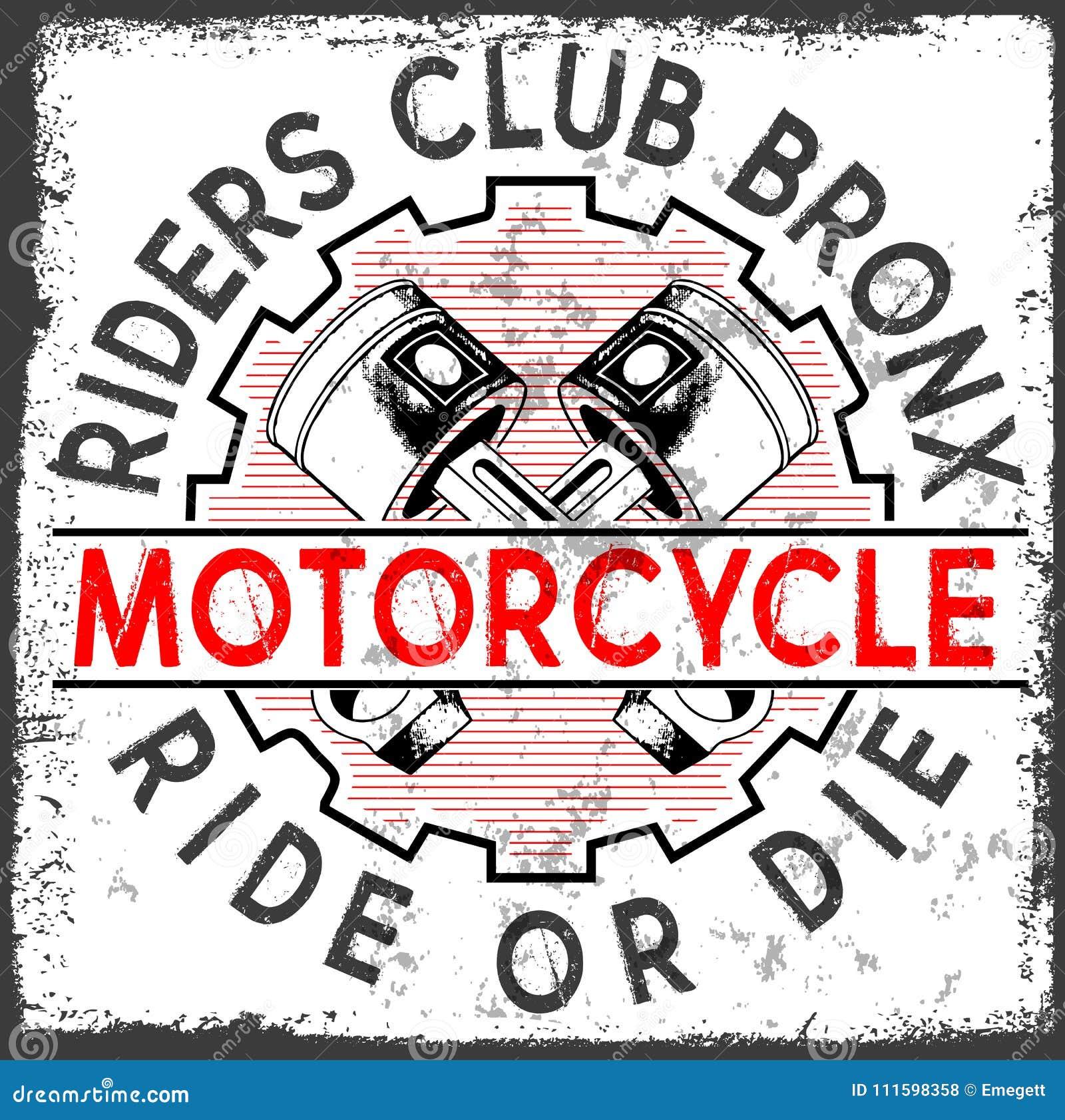 Motocykl typografii Bieżne grafika i plakat Czaszka i Stary