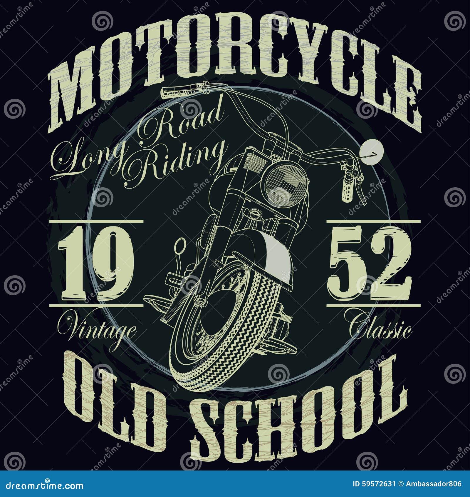 Motocykl typografii Bieżne grafika _ T