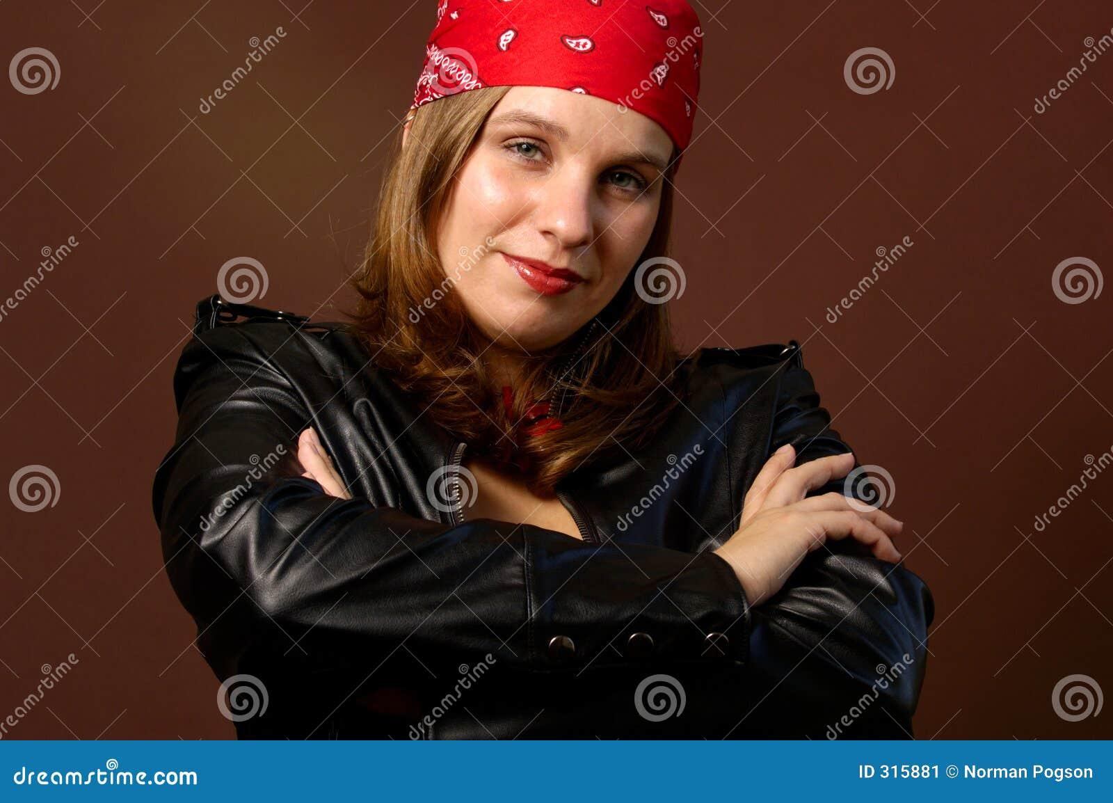 Motocyklista dziewczyna