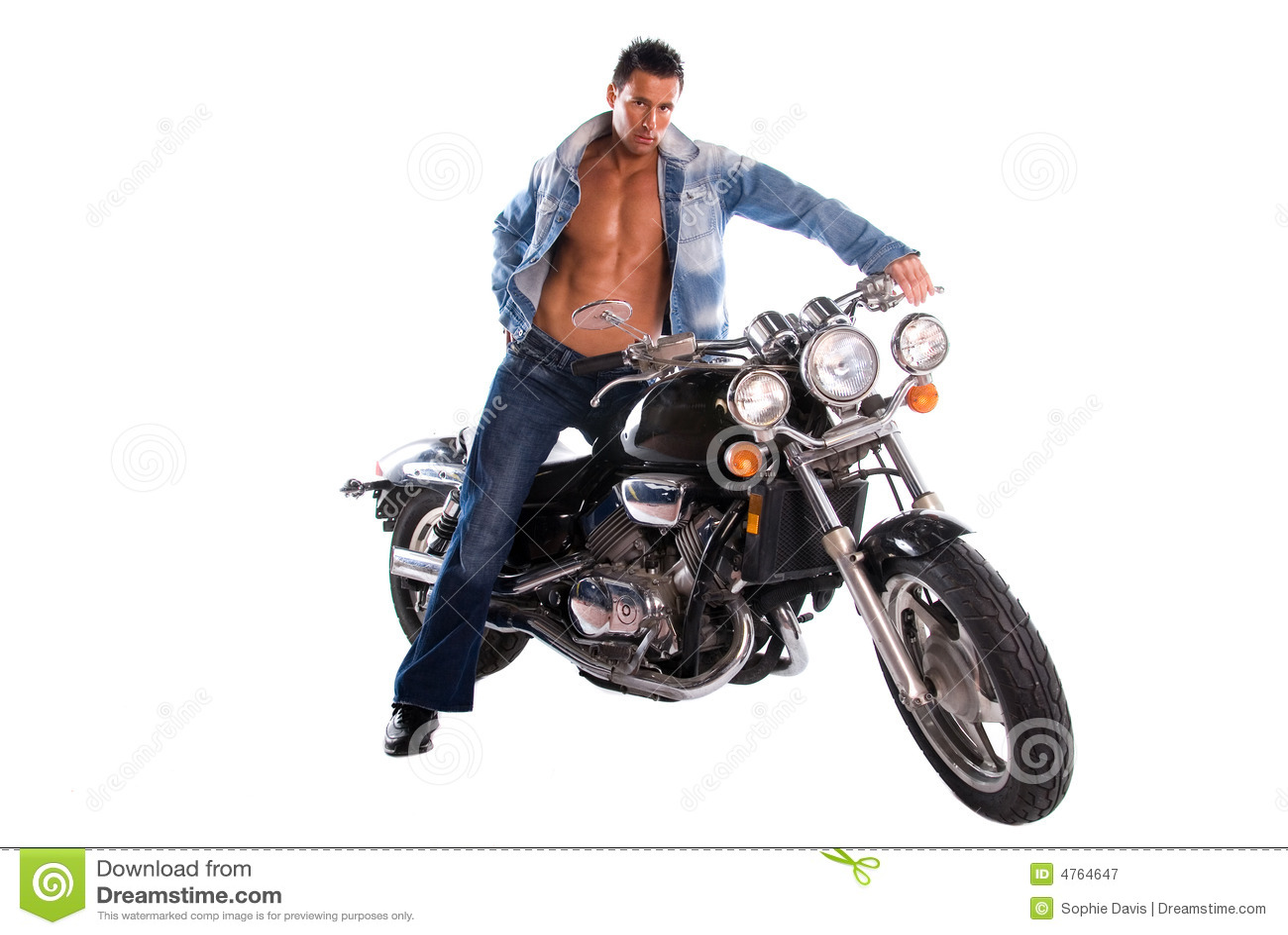 Motocyklista sexy
