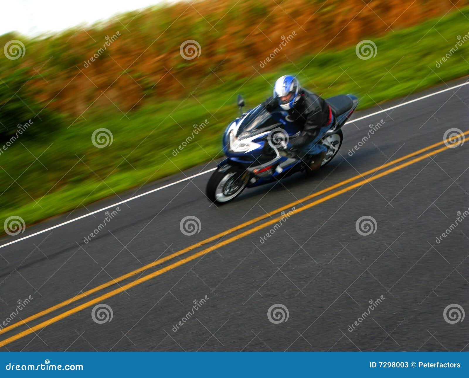 Motocyklu jeździec