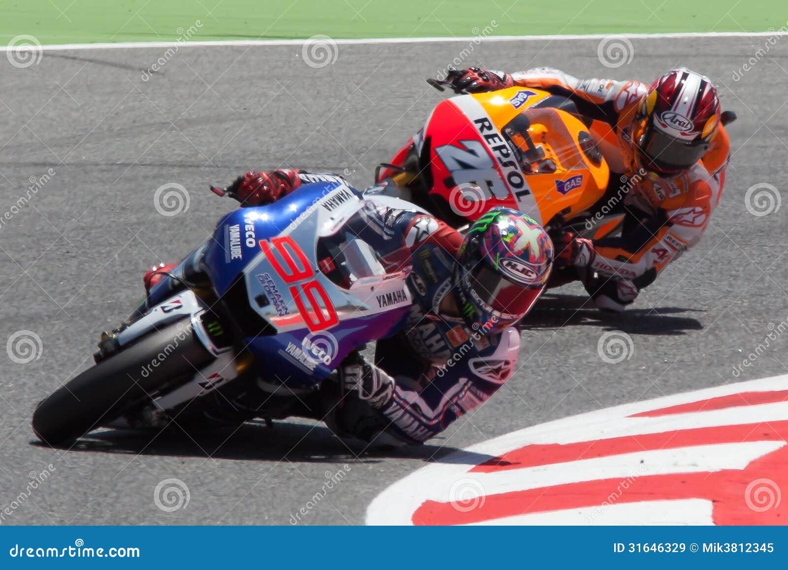 MotoGP. Jorge Lorenzo och Dani Pedrosa