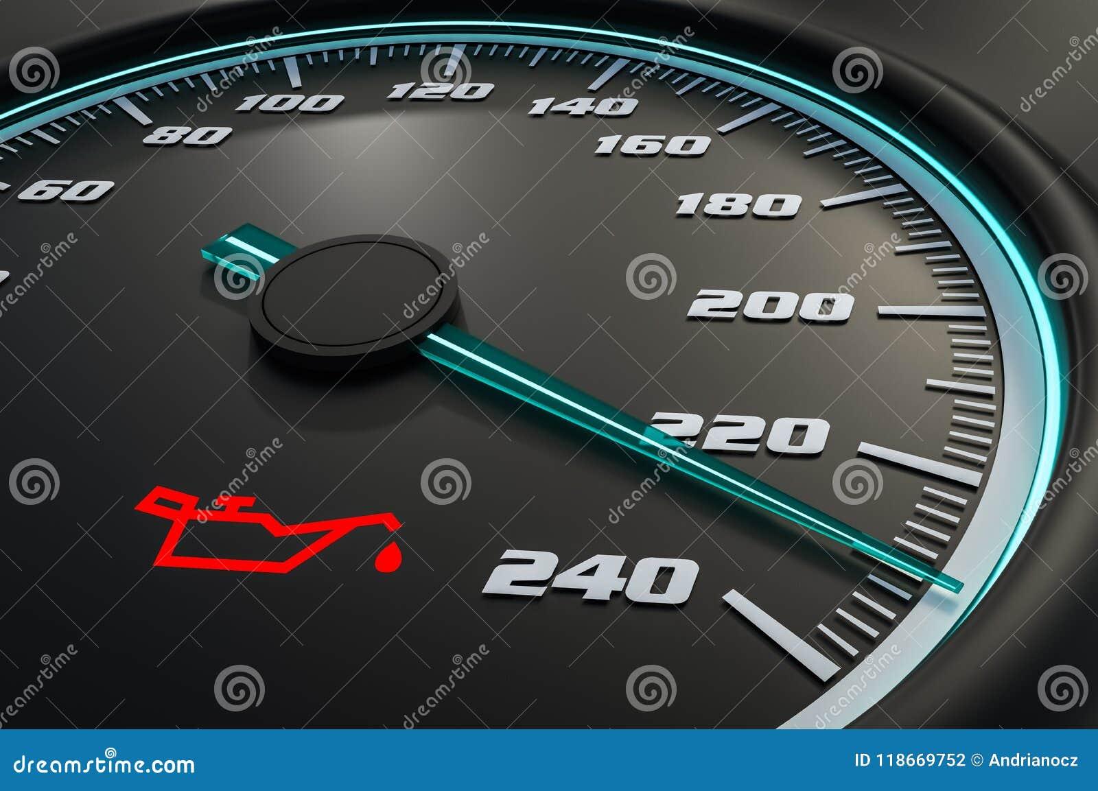 Motoröl-Drucklicht auf Armaturenbrett