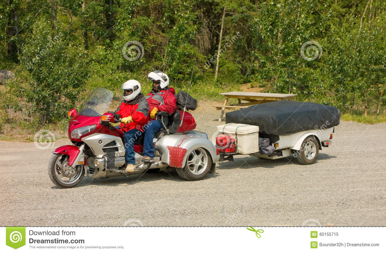 A motor-bike packed for adventure