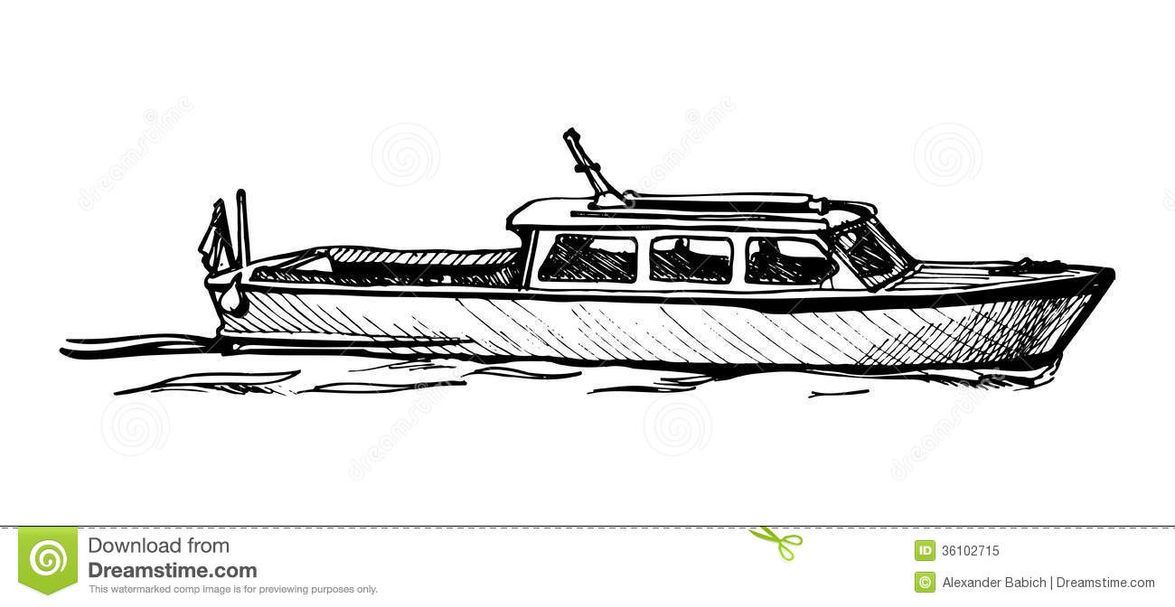 motor boat  royalty free stock photo