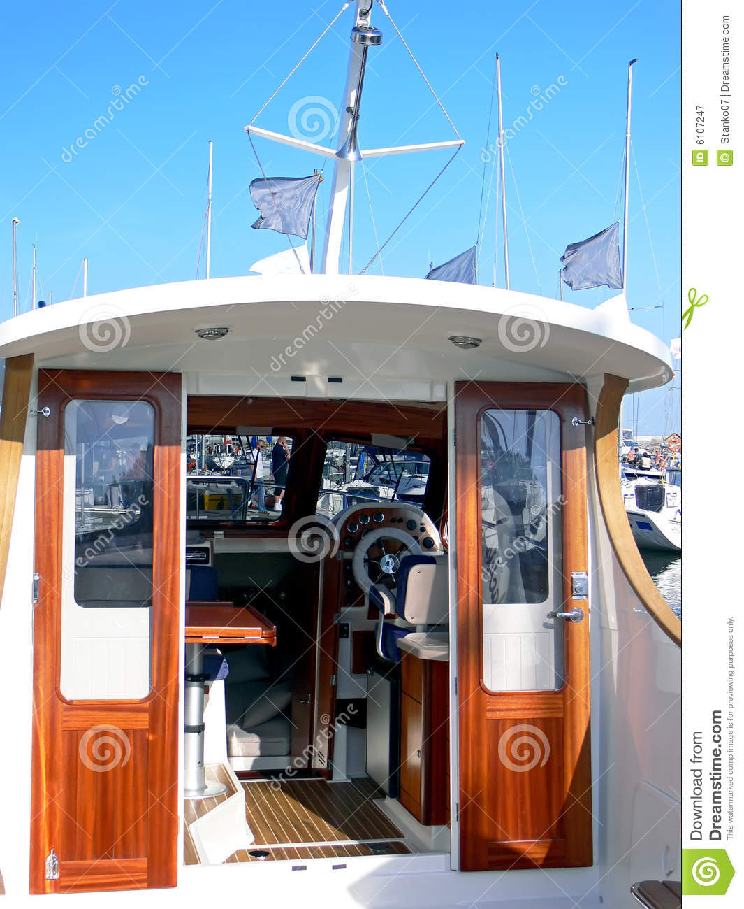 Motor Boat Wheelhouse Royalty Free Stock Photography - Image: 6107247