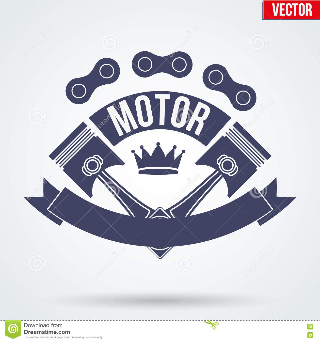 Motor Club Signs And Label Stock Vector Image Of Artwork