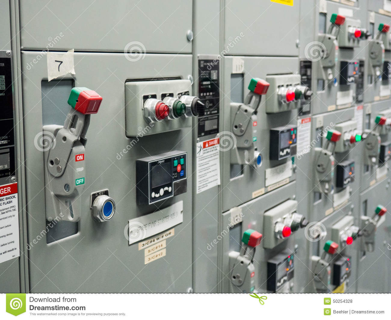 Motor Control Center Stock Photo Image Of Levers Cabinet 50254328