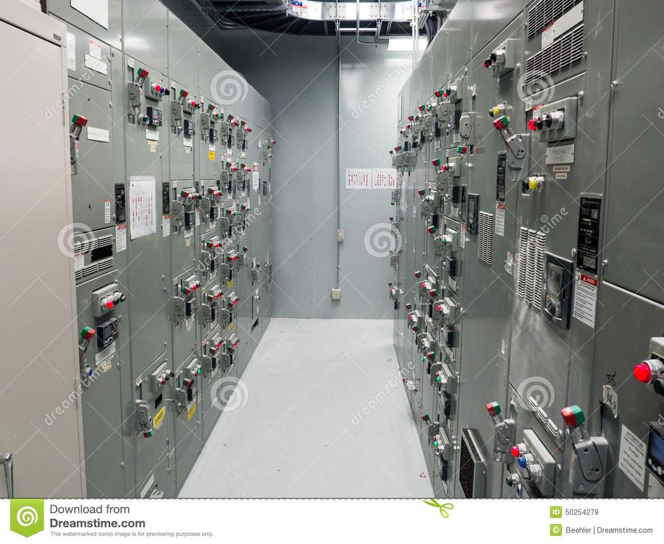 Motor Control Center Stock Image Image Of Switches