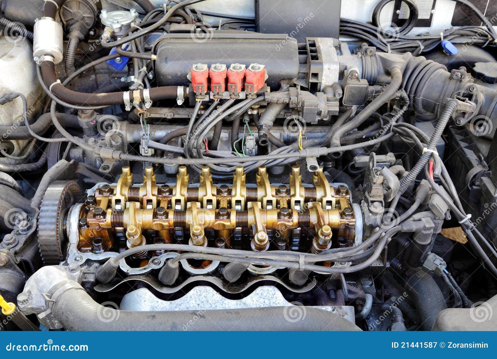 Motor convertido LPG