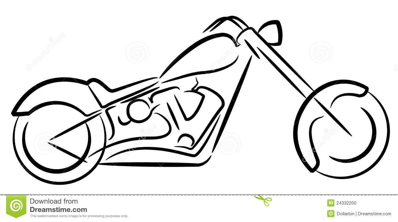 Motor Cycle Logo Stock Vector Illustration Of Cruiser 24332200