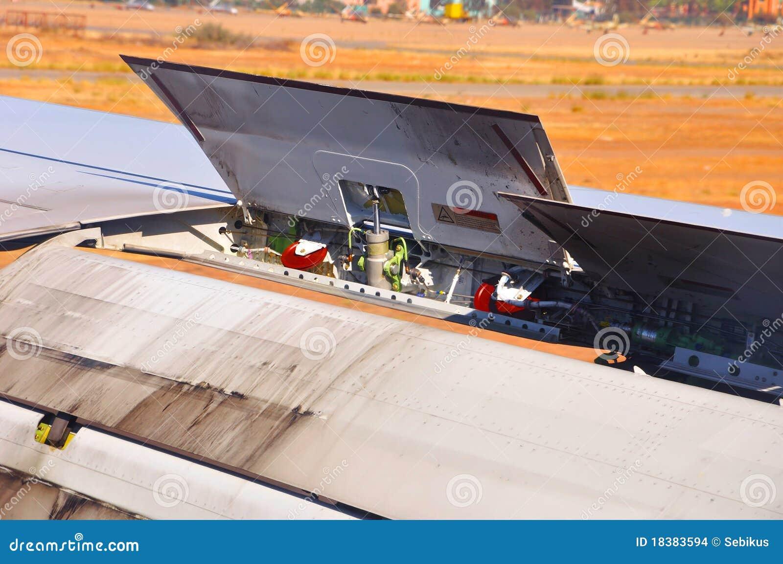 Motor de aviões da asa