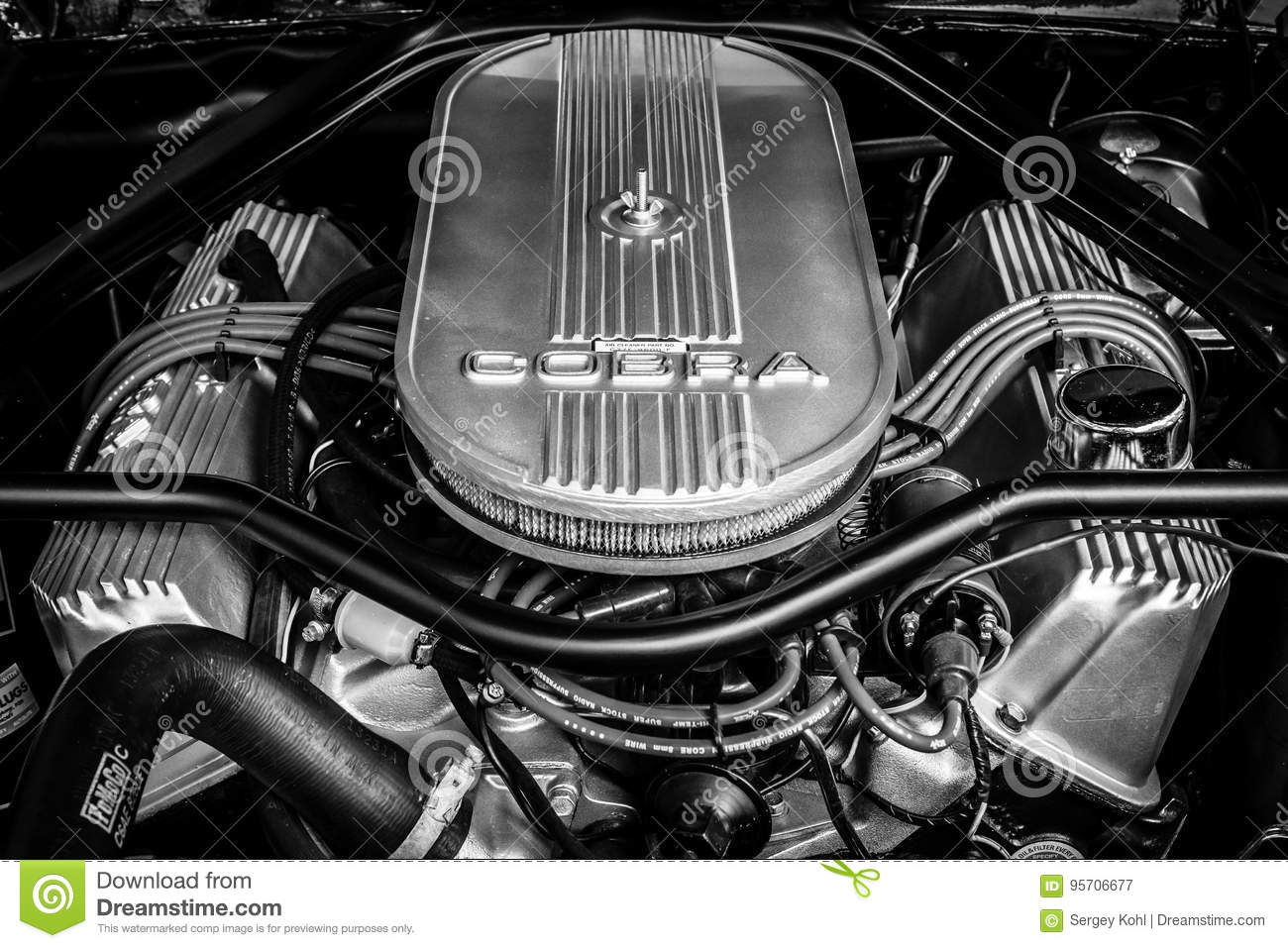Motor de Ford Shelby Mustang GT500 Eleanor Close-up Rebecca 36