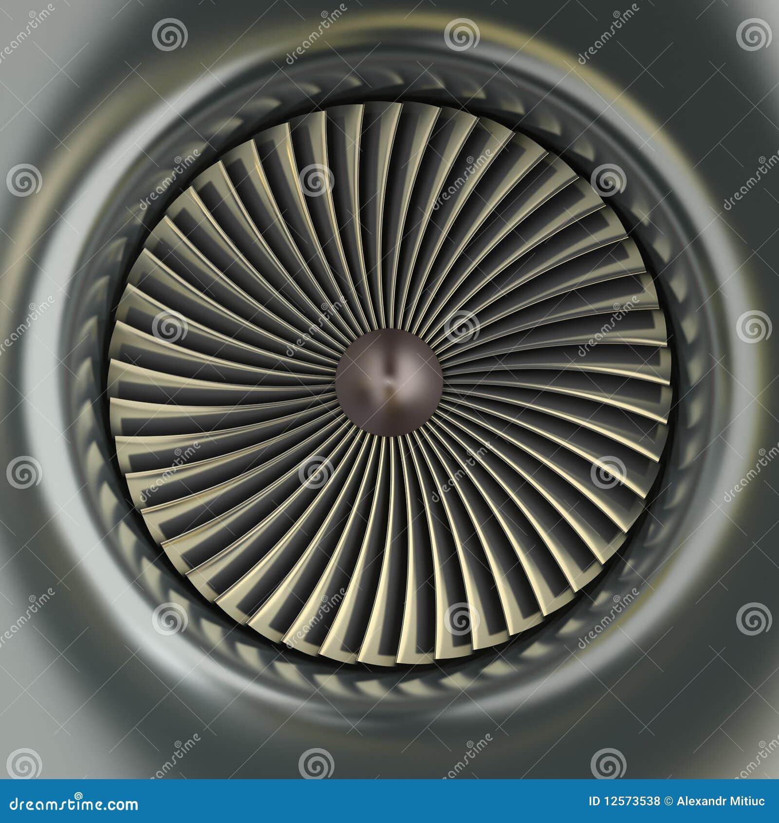 Motor De Jet De La Turbina De Gas Stock de ilustración - Ilustración ...