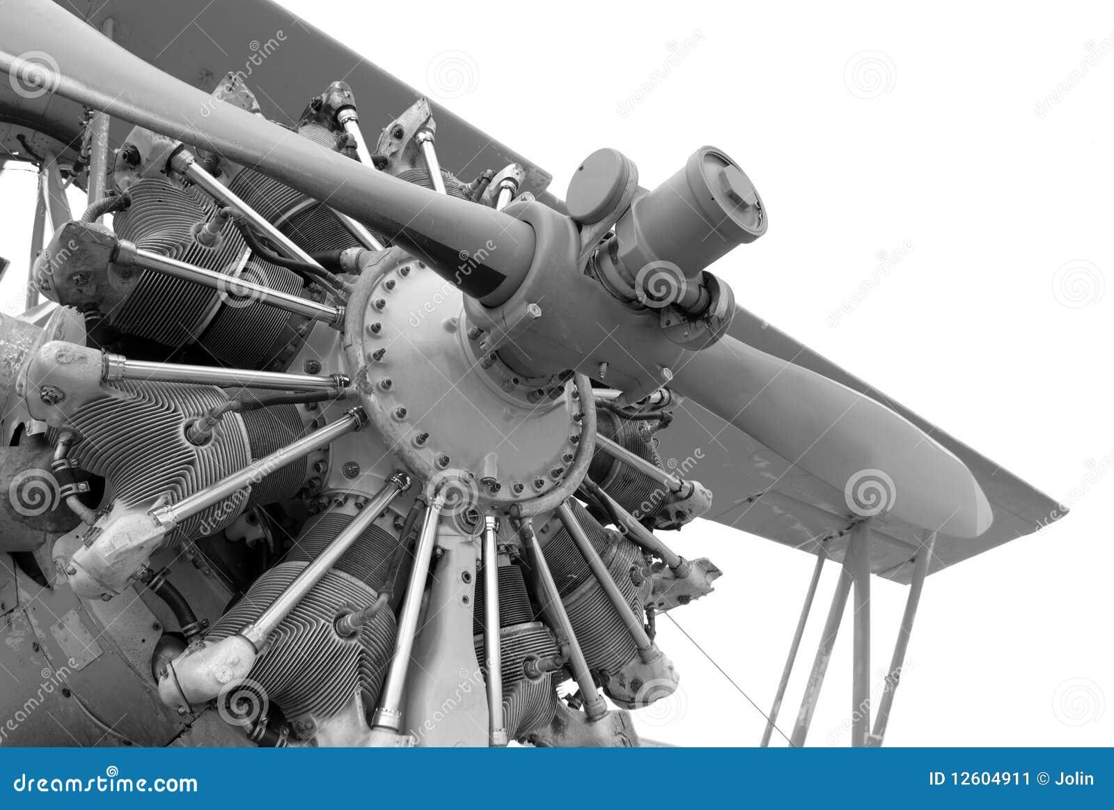 Motor del aeroplano de la vendimia