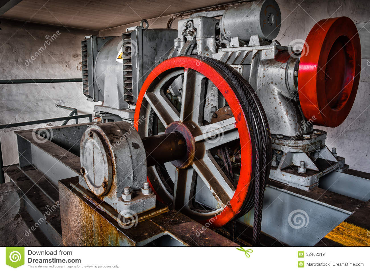 Motor Driven Elevator Stock Image Image Of Industrial