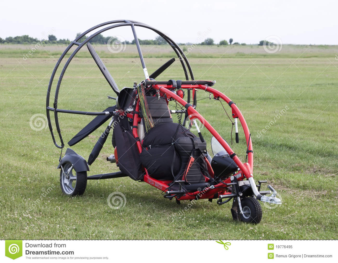 Motor Glider With Propeller Raw Format Stock Image