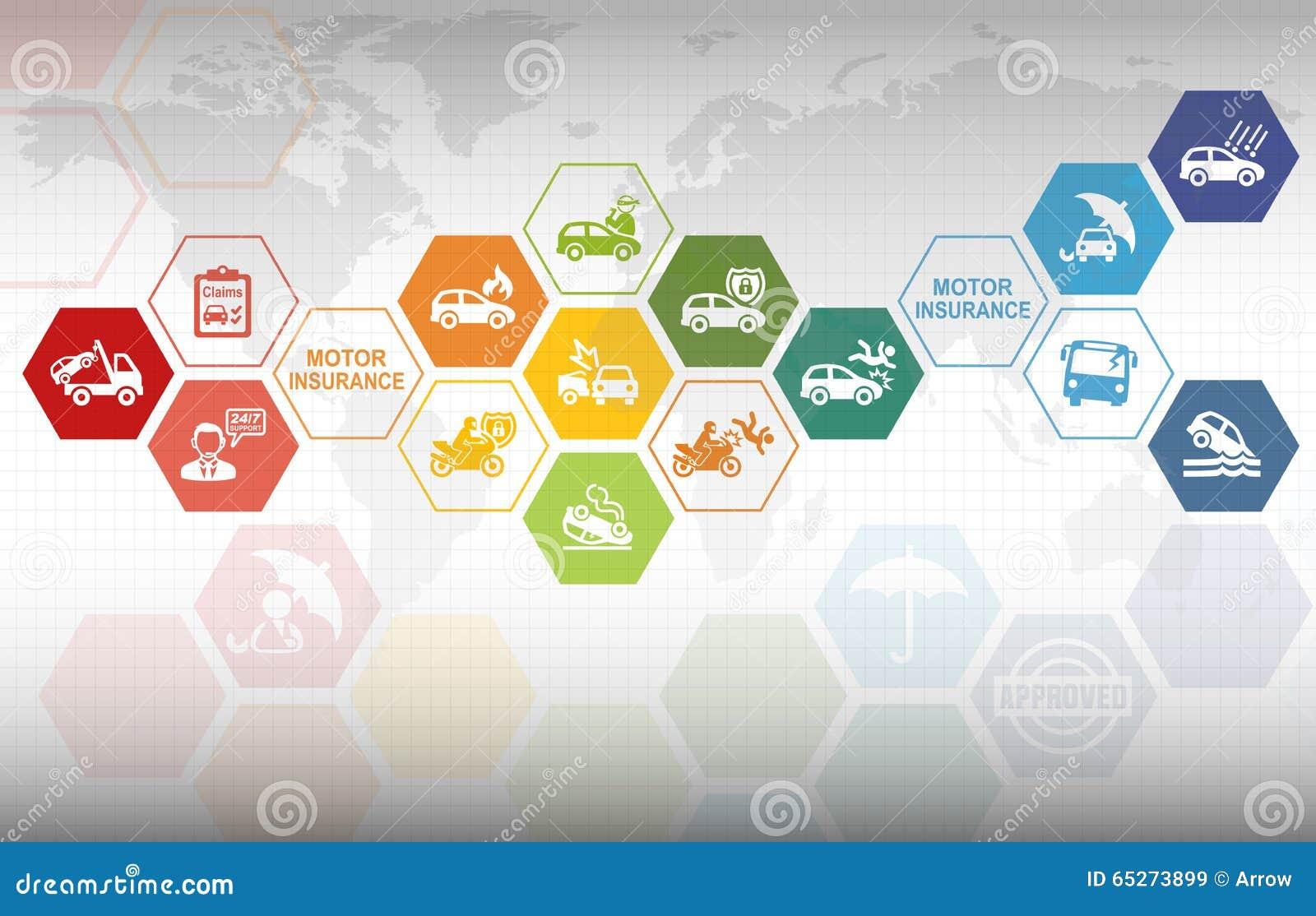 Motor Insurance Background Stock Illustration Image Of