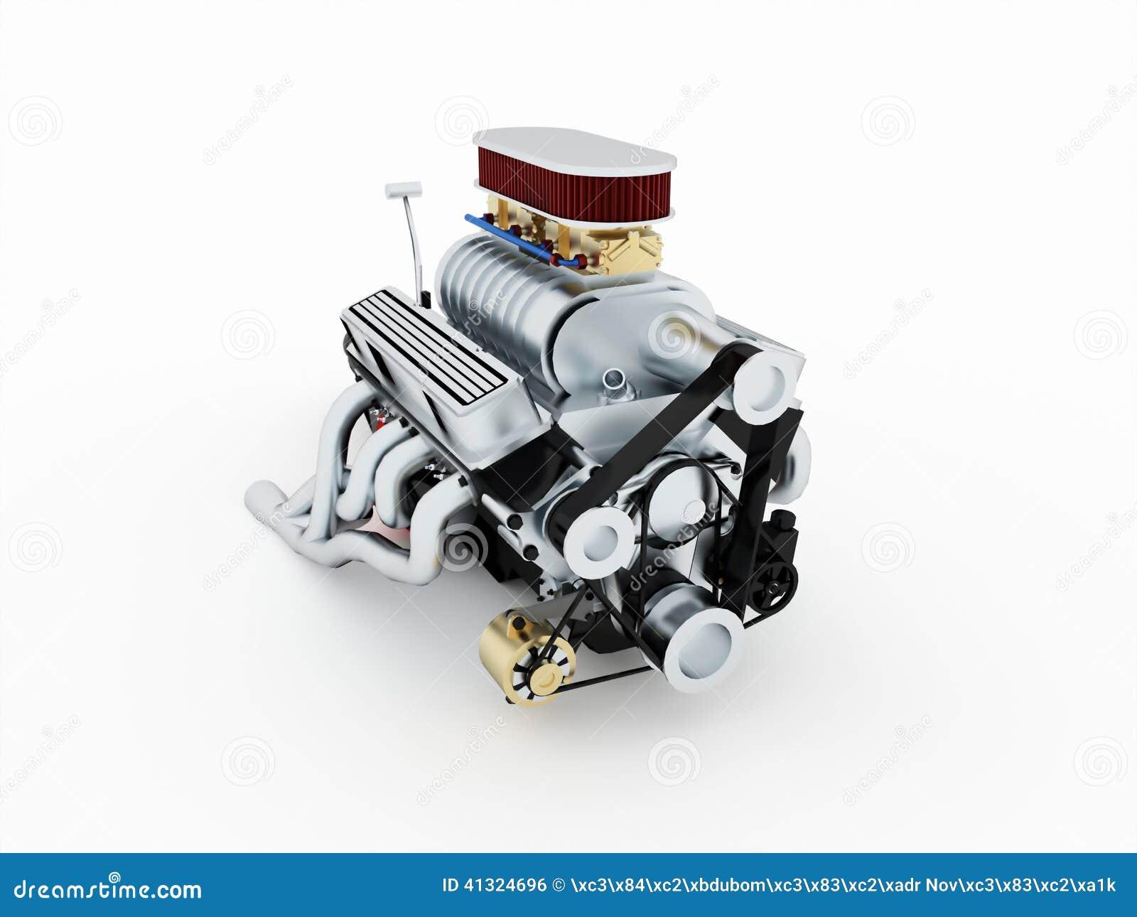 Motor isolado rendido