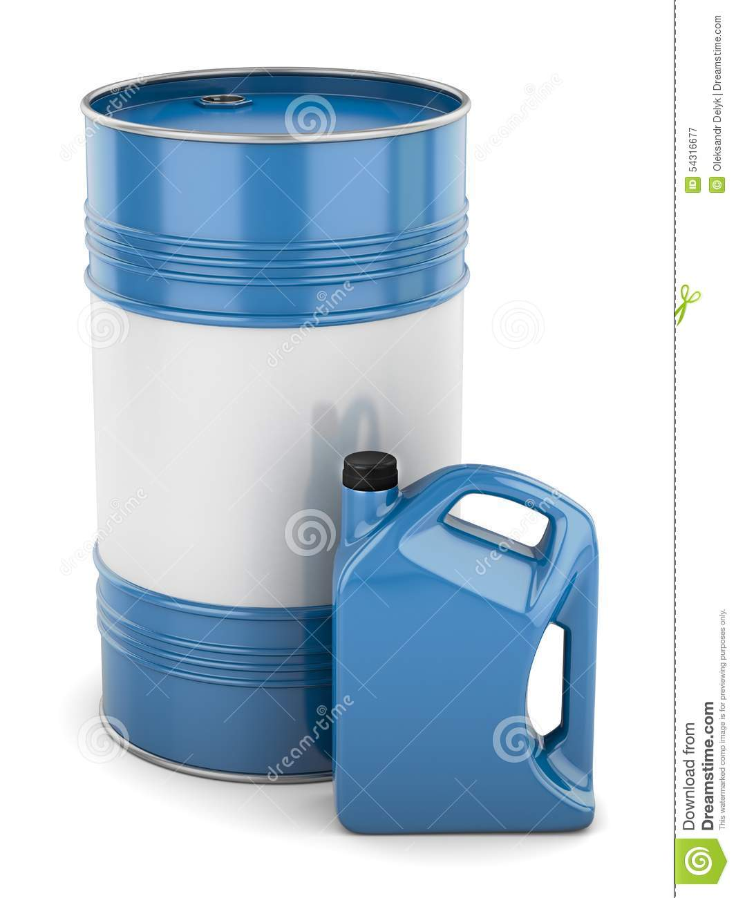 Motor oil barrel and canister stock illustration image for Motor oil by the barrel
