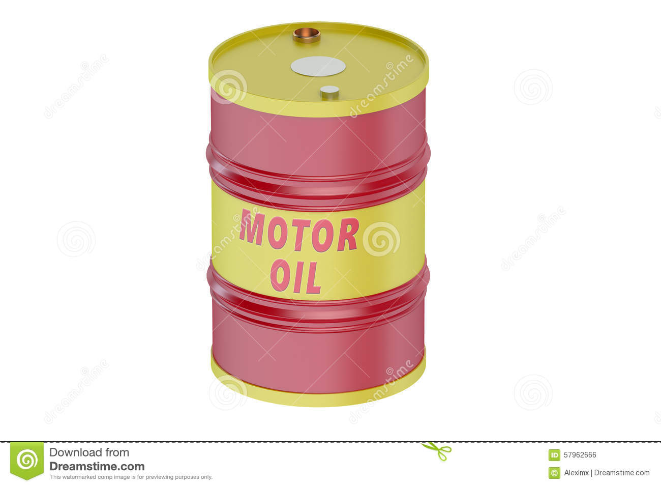 Motor oil barrel