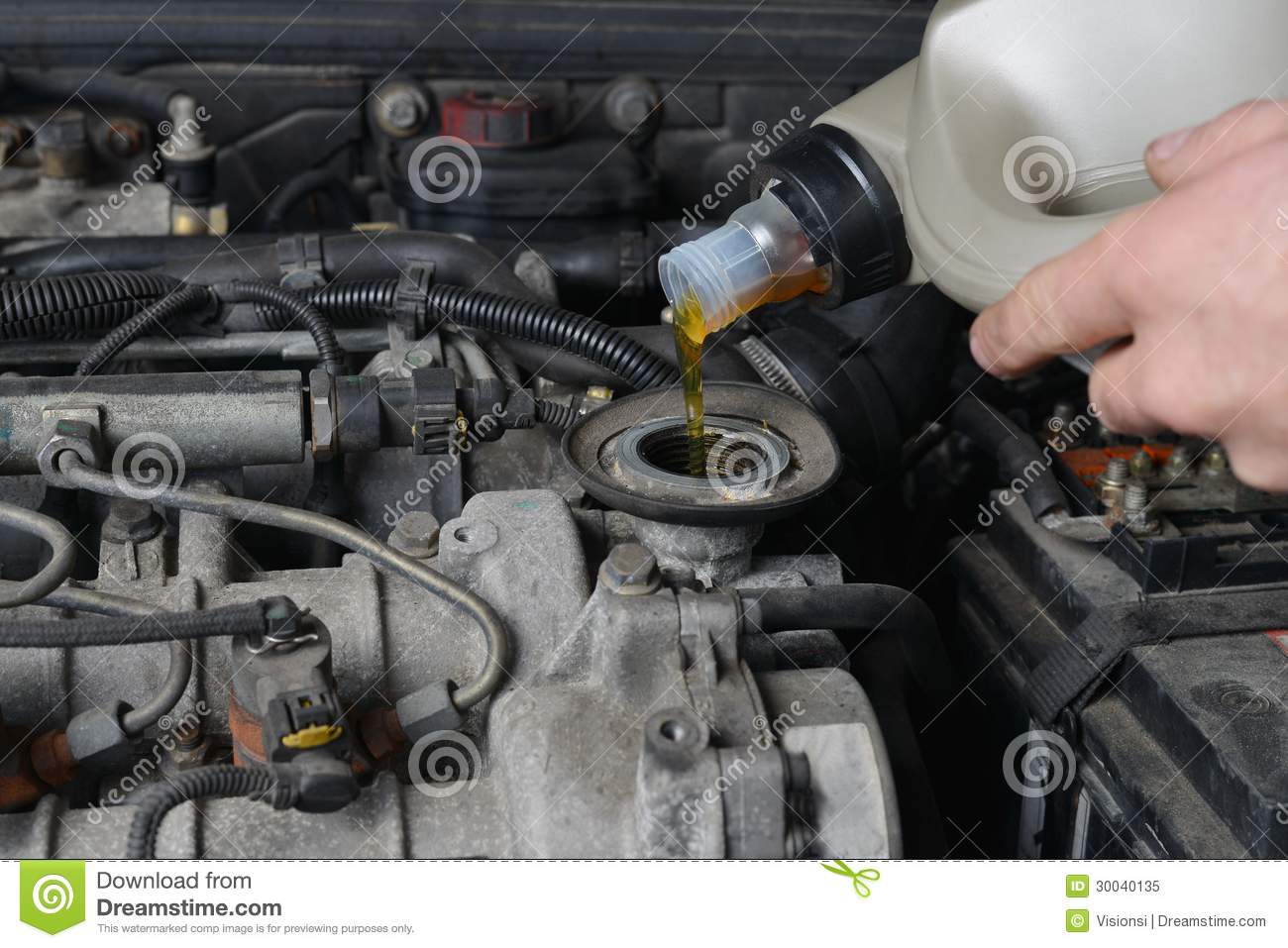 Oil Change Royalty Free Stock Photo Image 30040135