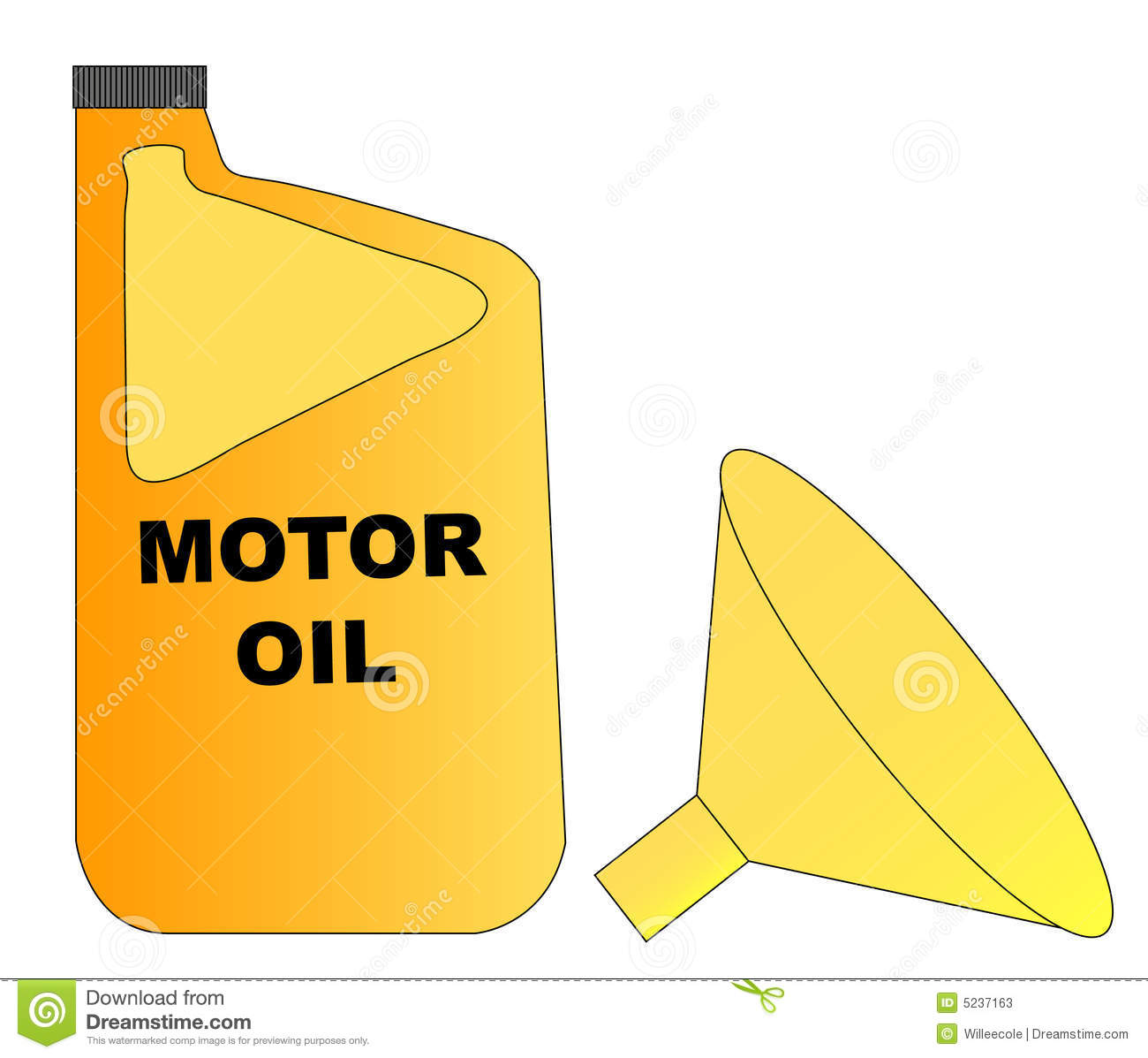 Motor Oil And Funnel Stock Photos Image 5237163