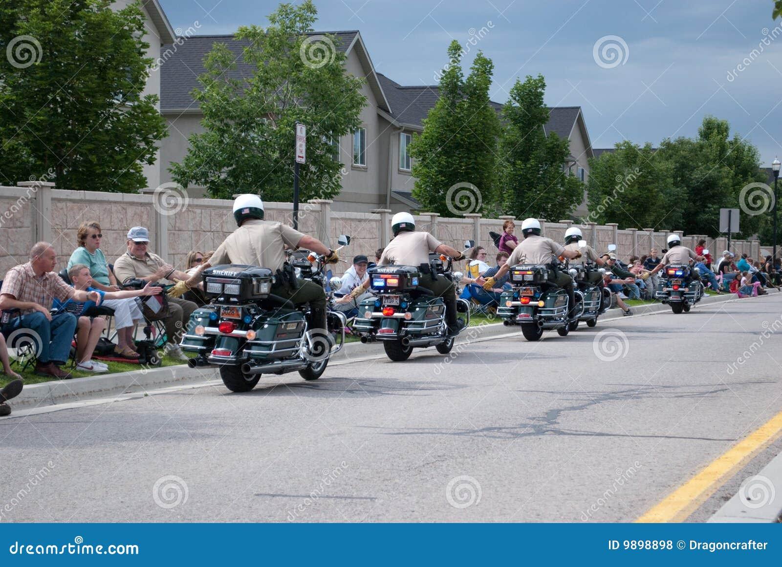 Motor-politie Hoge fiving menigte