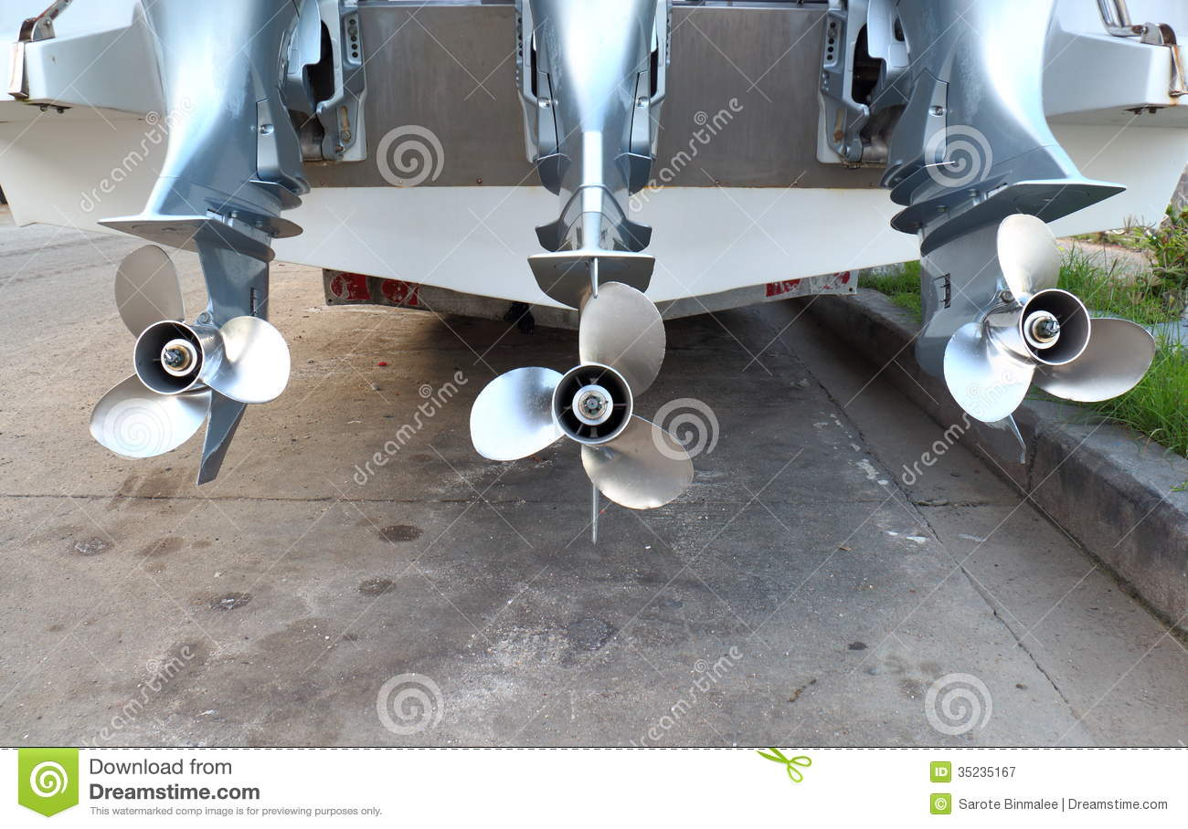 Motor Propeller Of Speed Boat Royalty Free Stock Photography - Image ...