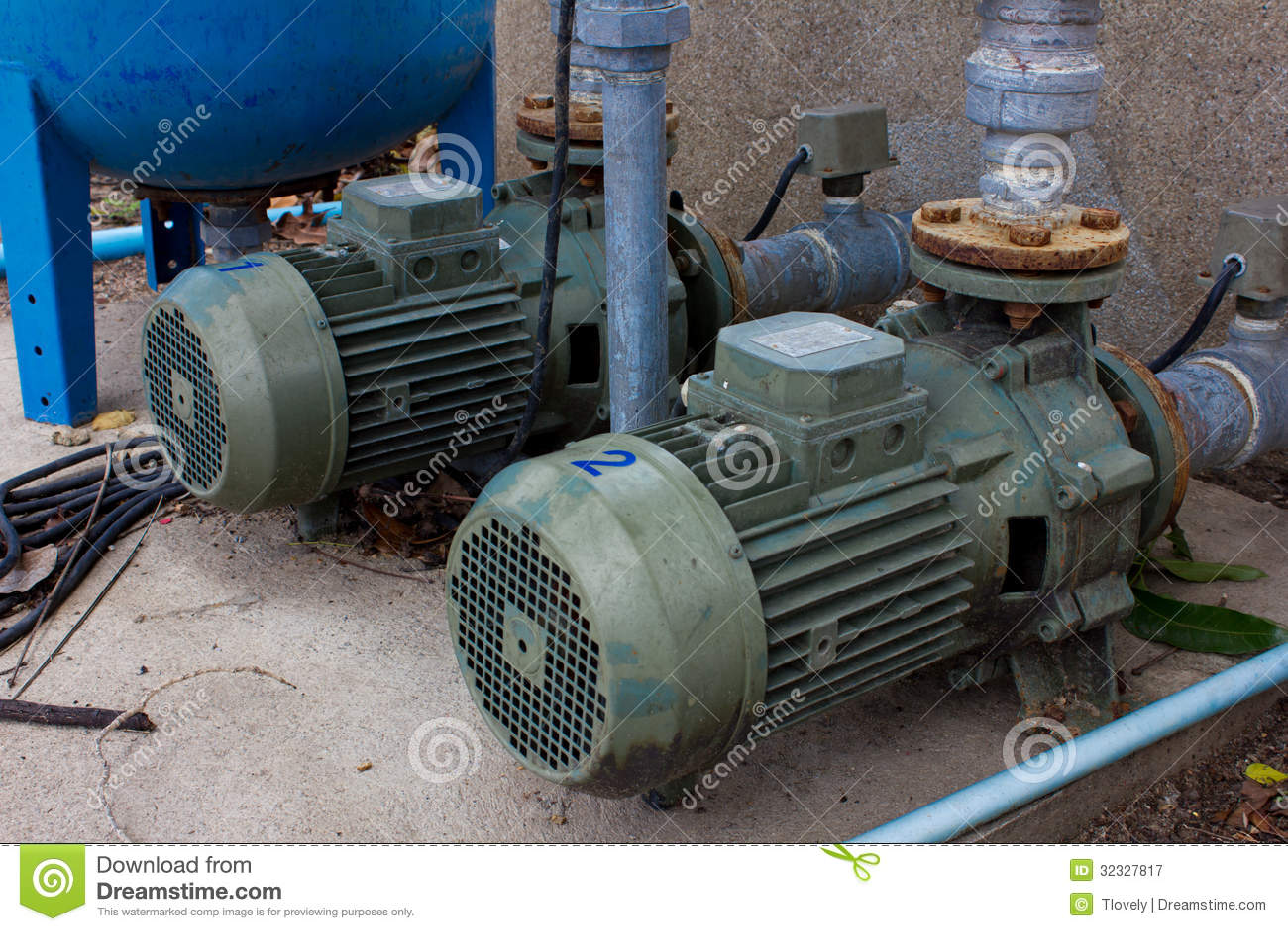 Motor Pump Water Royalty Free Stock Photography Image