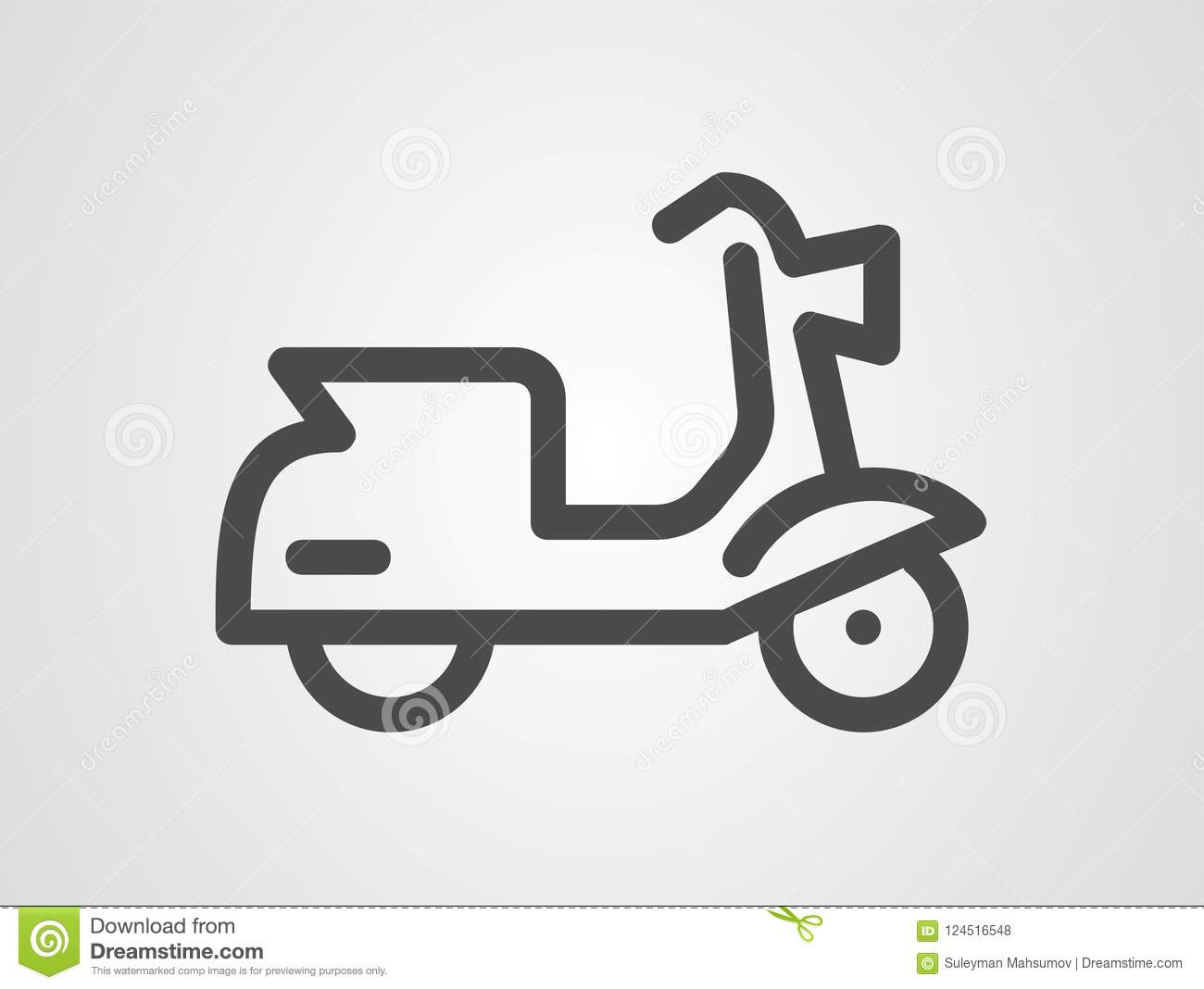 scooter vector icon sign symbol stock vector illustration of moped seat 124516548 https www dreamstime com motor scooter icon small motorcycle moped logo outline design motorbike logotype label vector illustration scooter vector image124516548