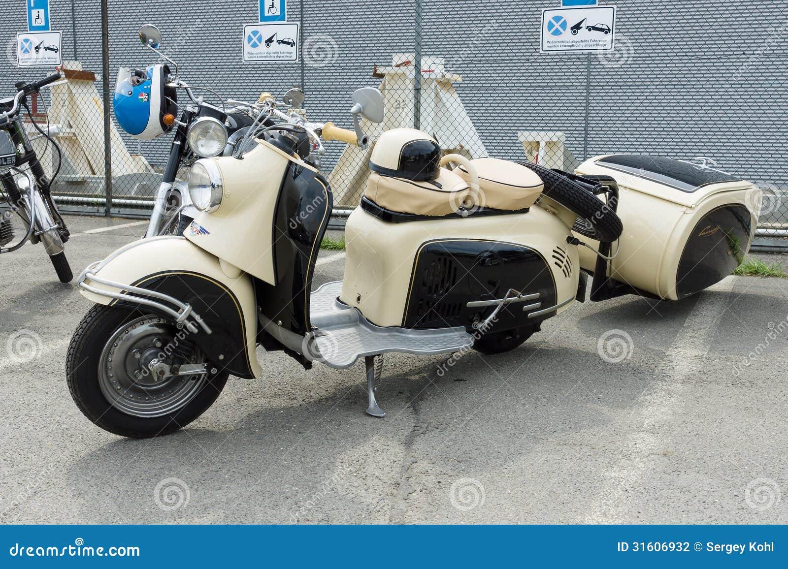 Len Design Berlin motor scooter sr 59 berlin with iwl stoye ci trailer editorial