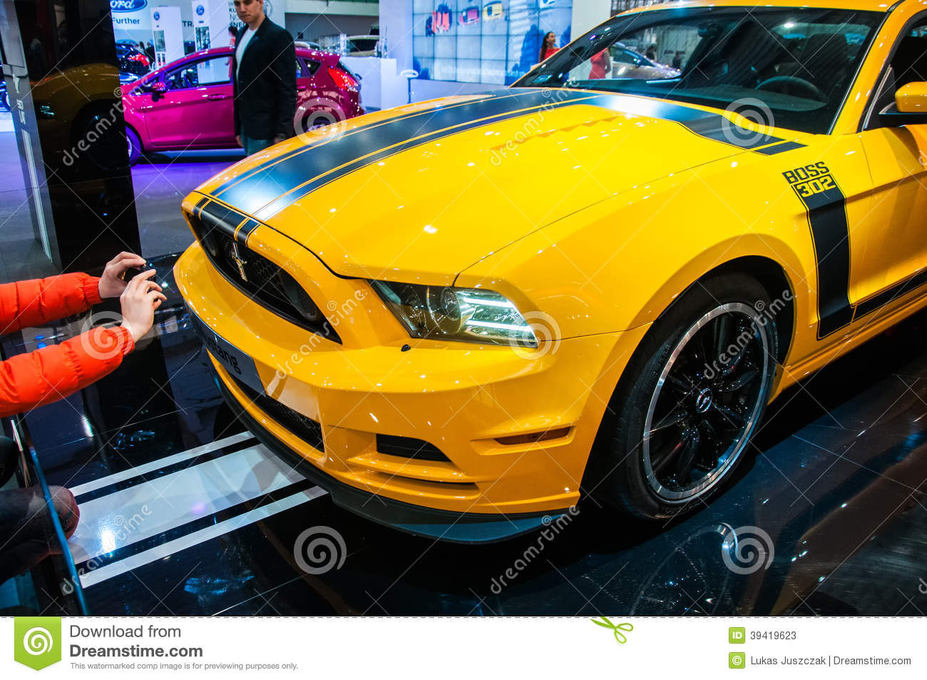 Ford Mustang Car On Display In Motor Show 2014 Editorial