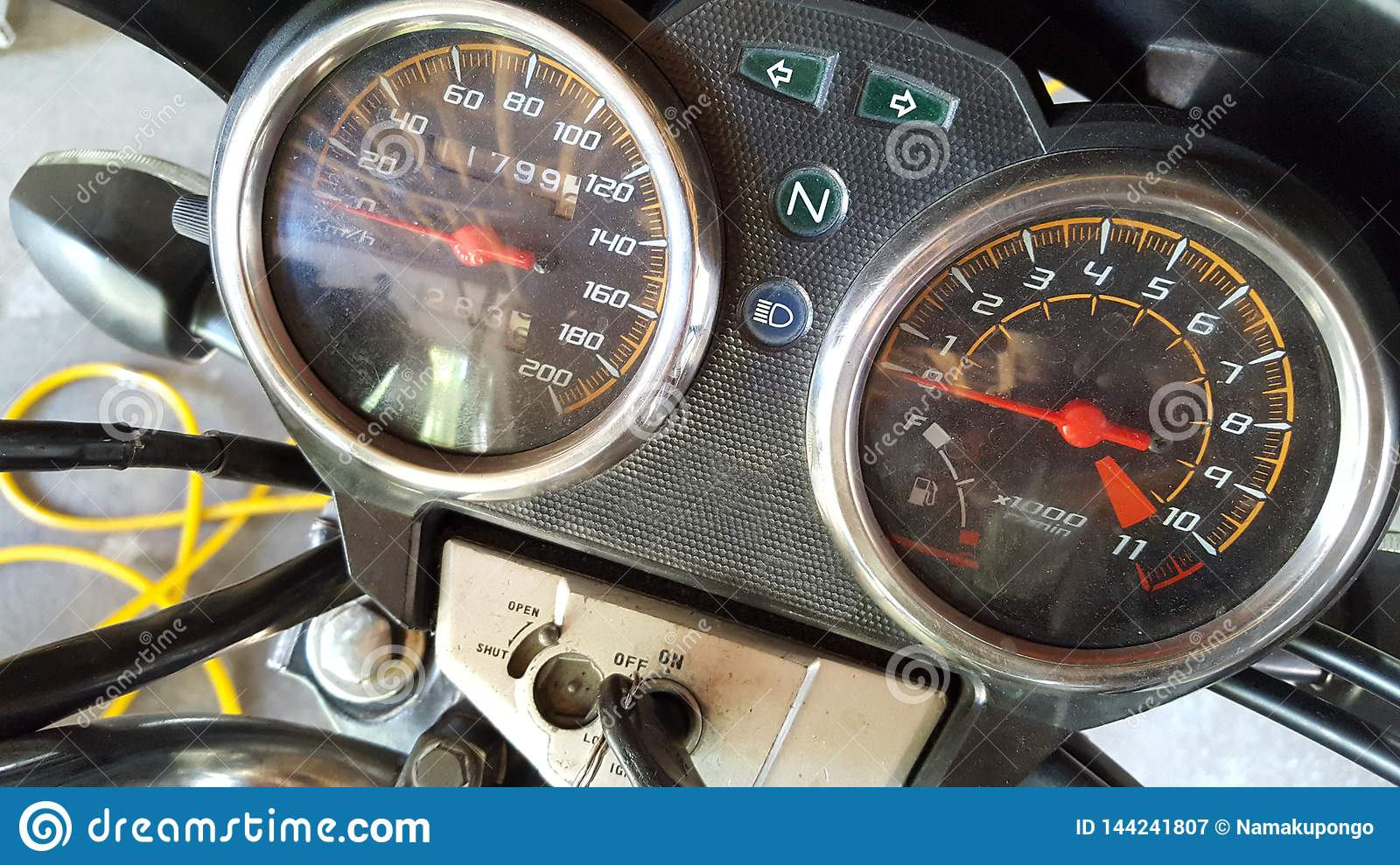 Motor Speed Meter, Speed Calculator And Distance Traveled On The
