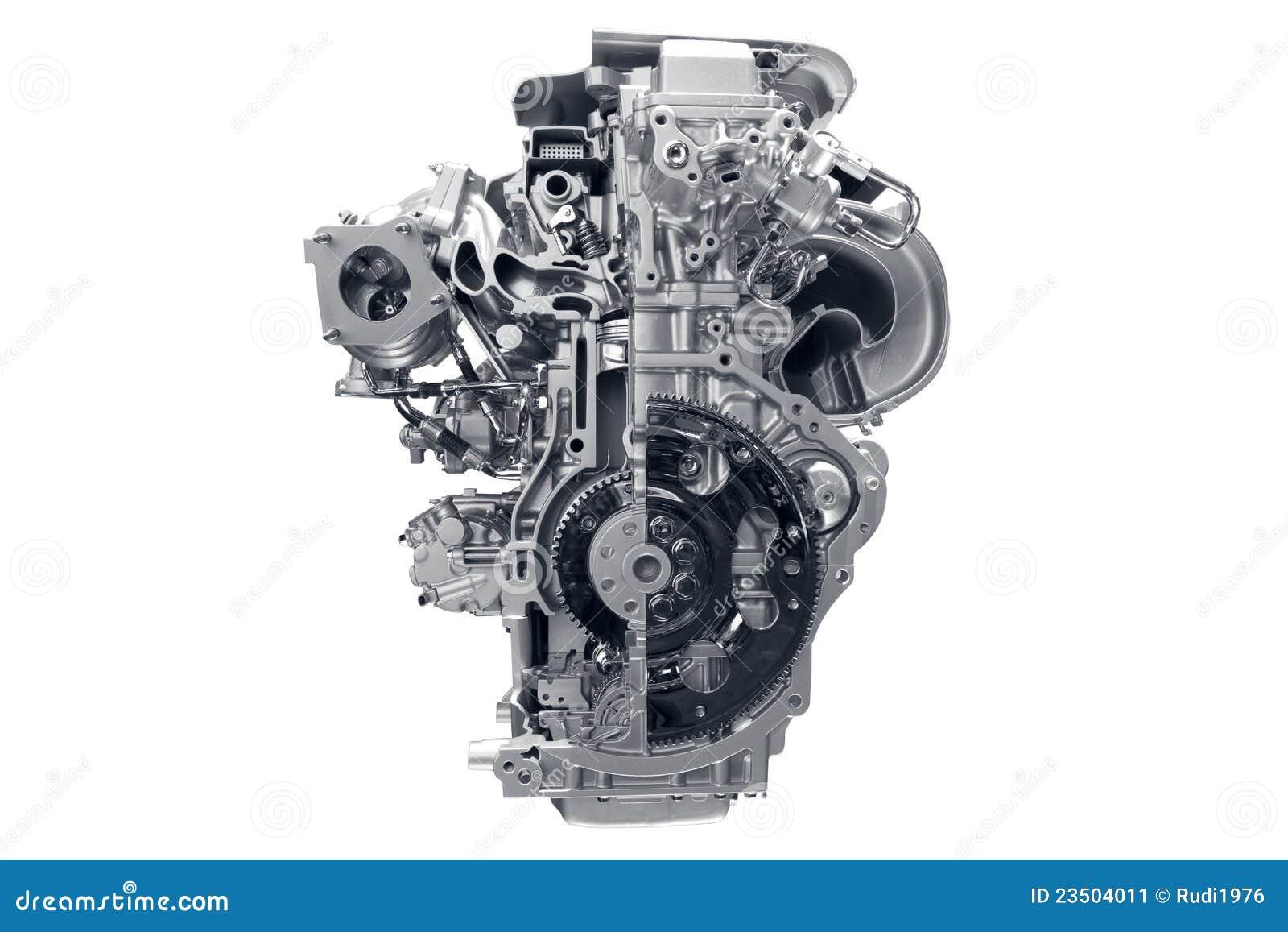 Motor van een auto.
