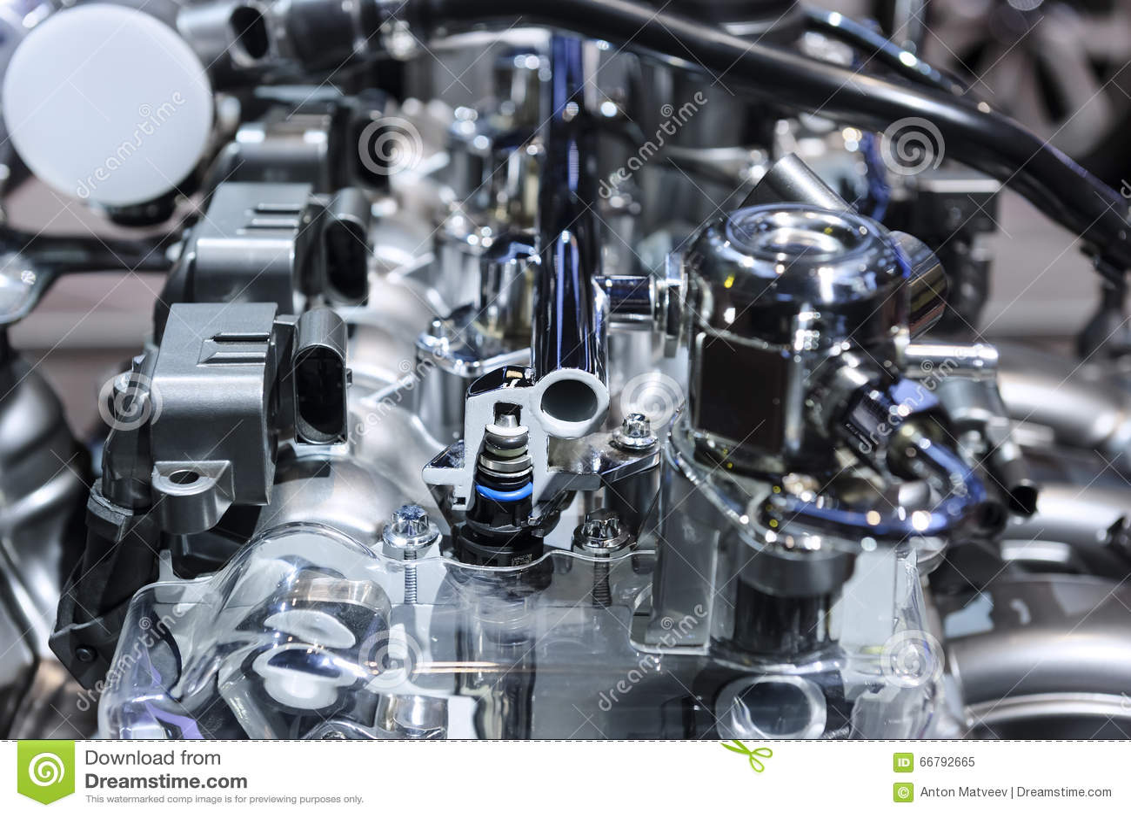 Motor van een autoconcept