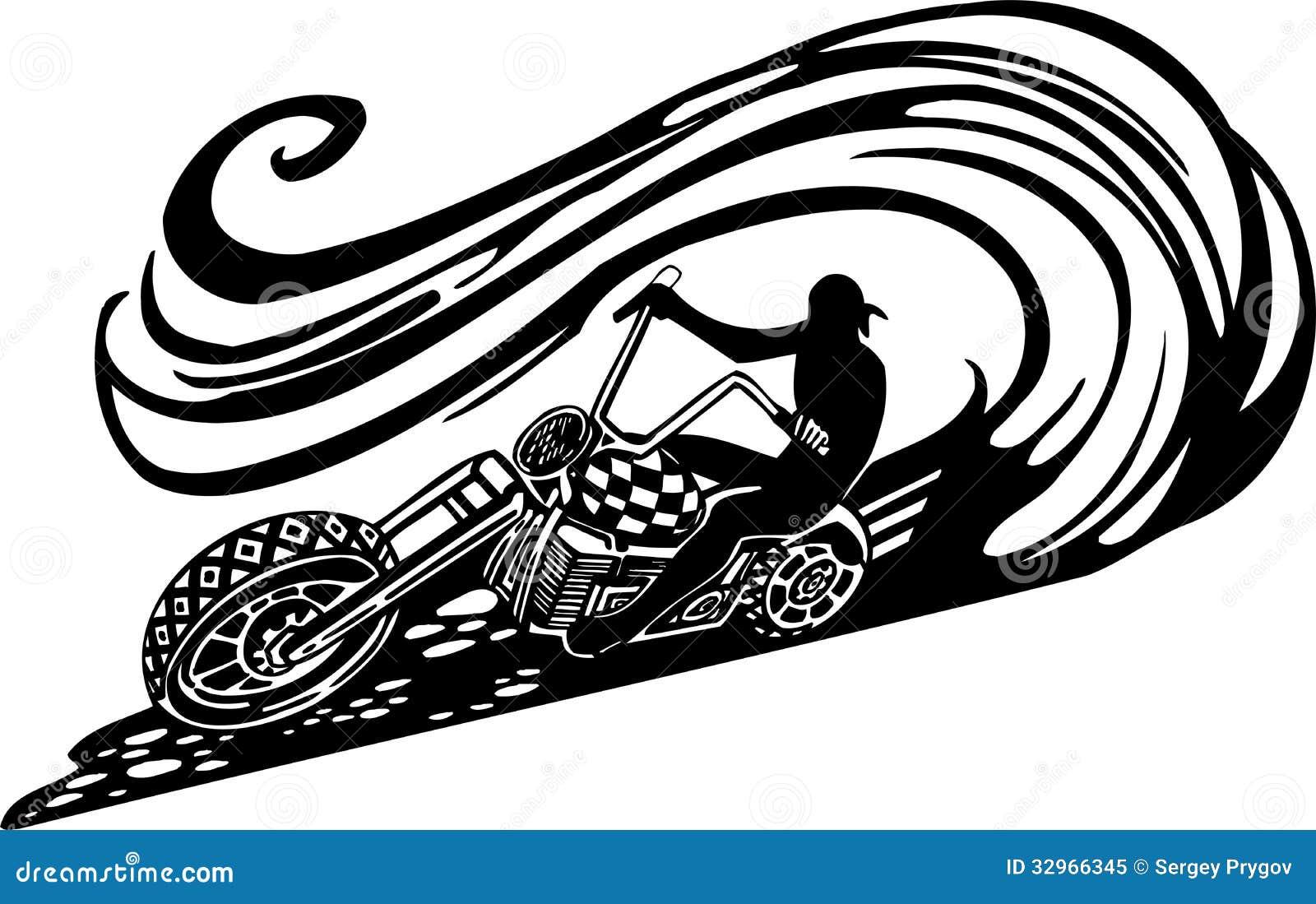 Motorbike, Chopper - Vector Illustration. Stock Vector ...