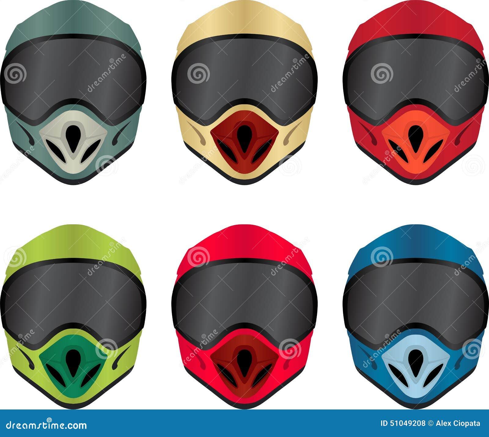 Motorbike Helmet Stock Vector - Image: 51049208
