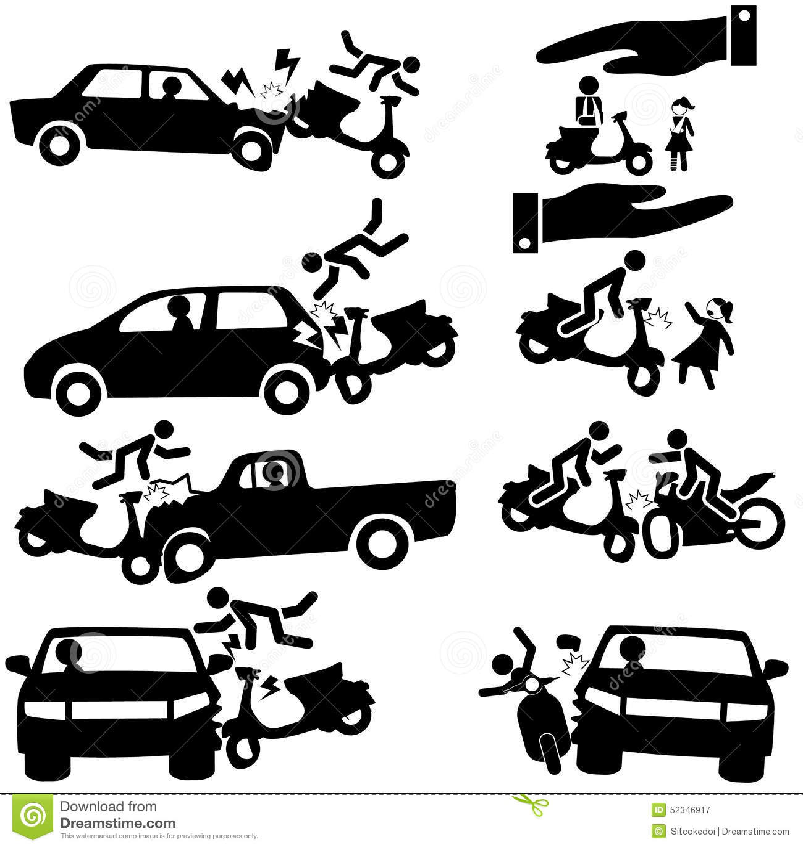 Motorbike insurance stock vector. Illustration of dangers ...