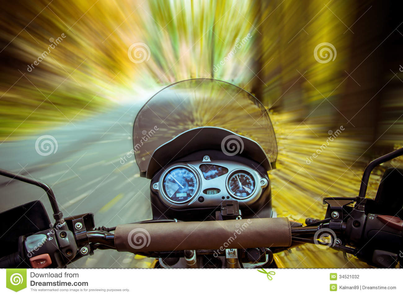 Motorbike In Motion Stock Photo Image Of Motorcycle