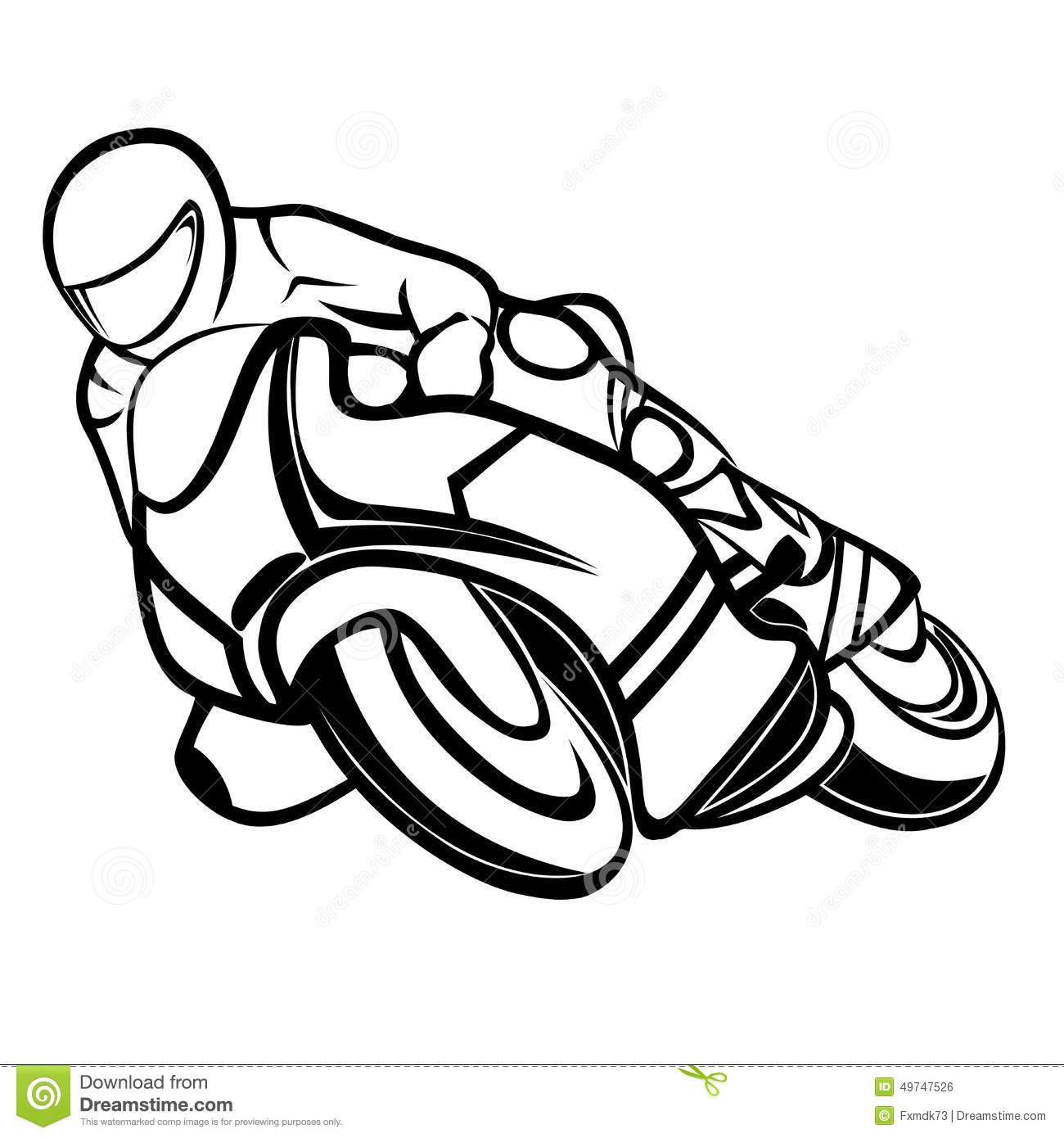 Motorbike rider stock vector. Illustration of leathers ...