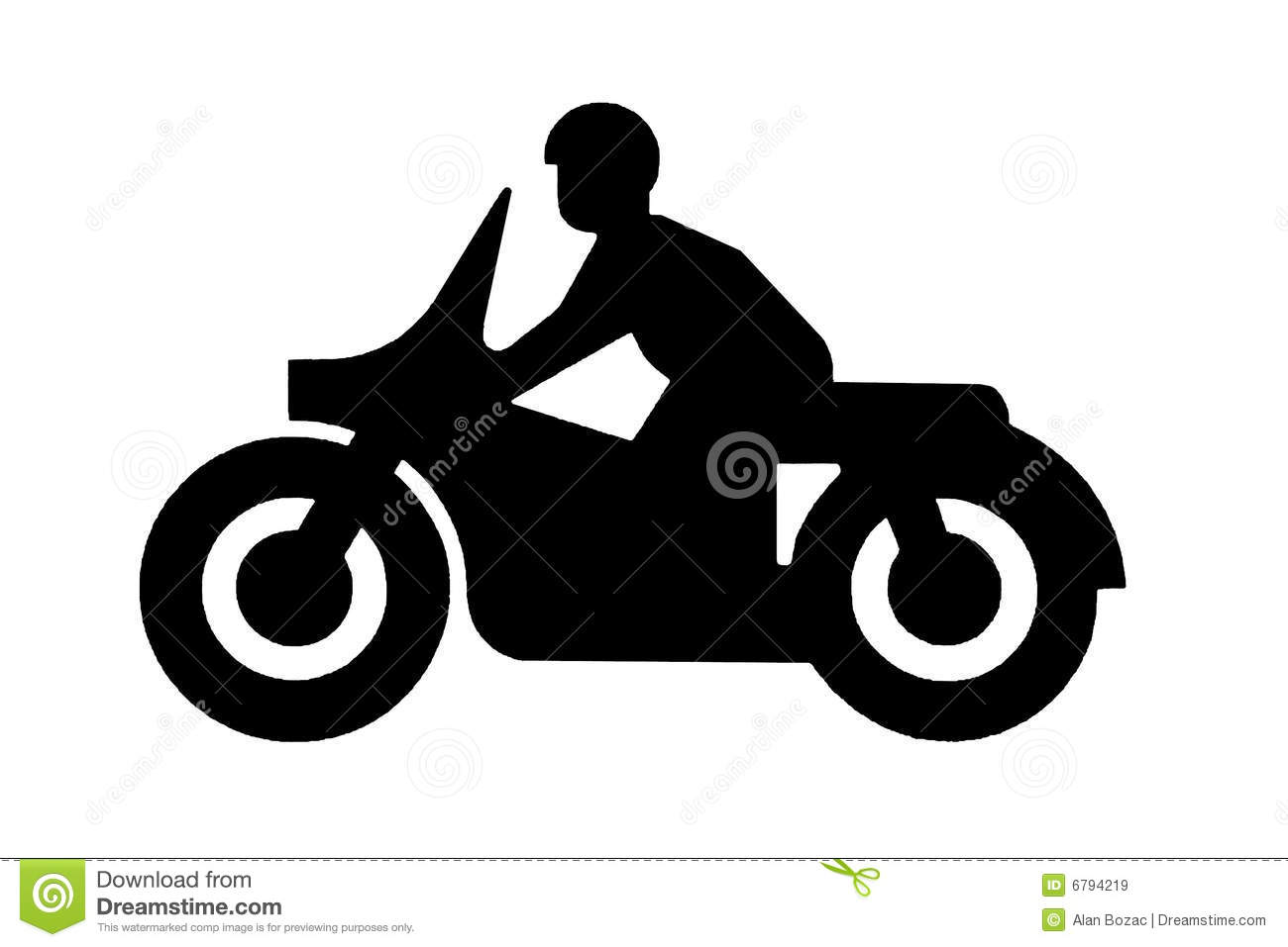 motorcycle parking clipart  Motorbike sign stock illustration. Illustration of sign - 6794219